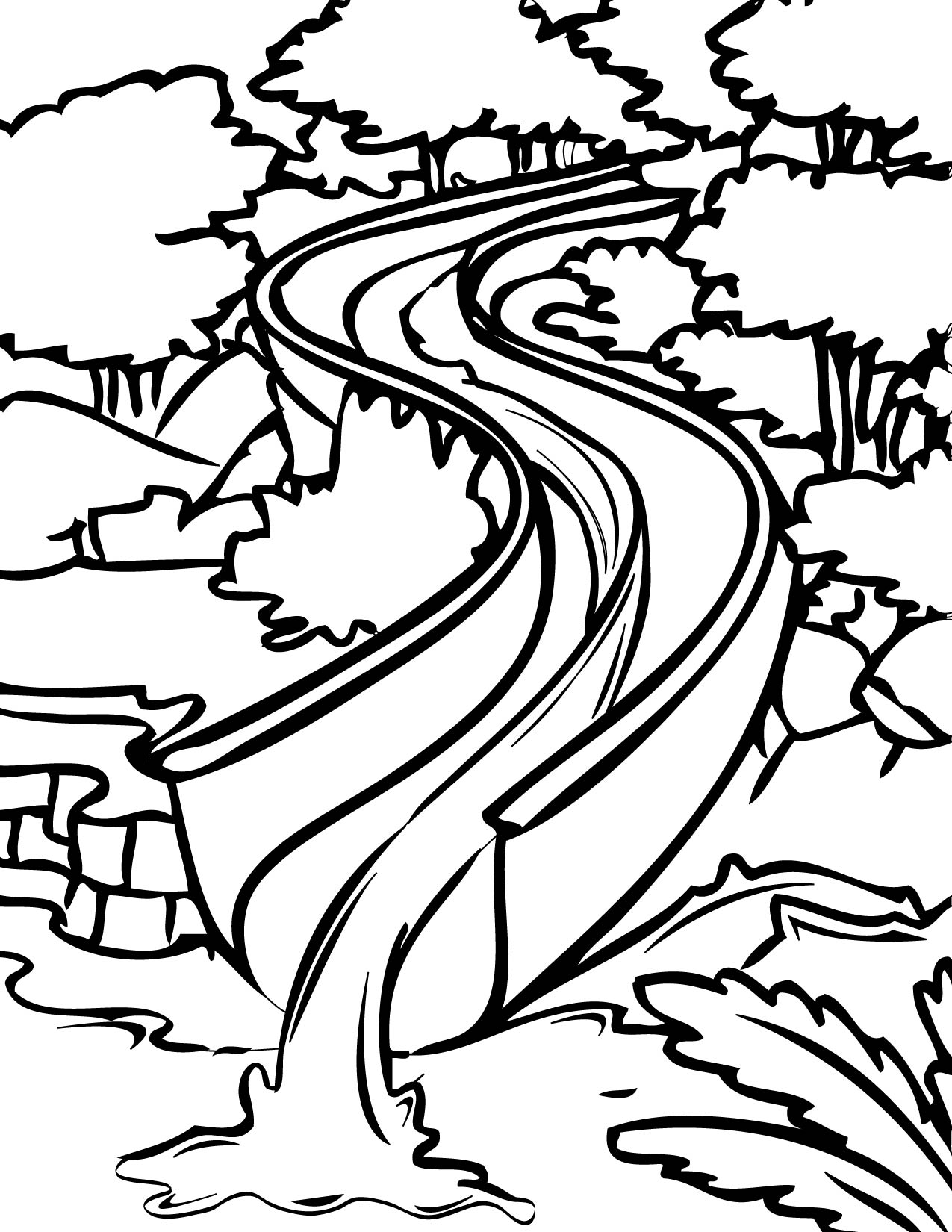 water slide coloring page handipoints