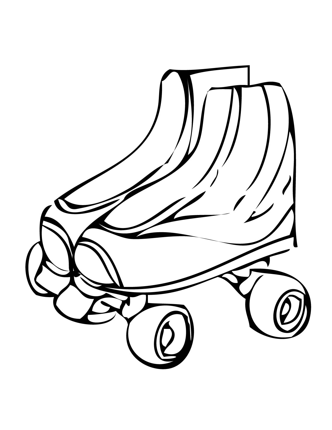 Free Coloring Pages Of Roller Roller Skate Coloring Page