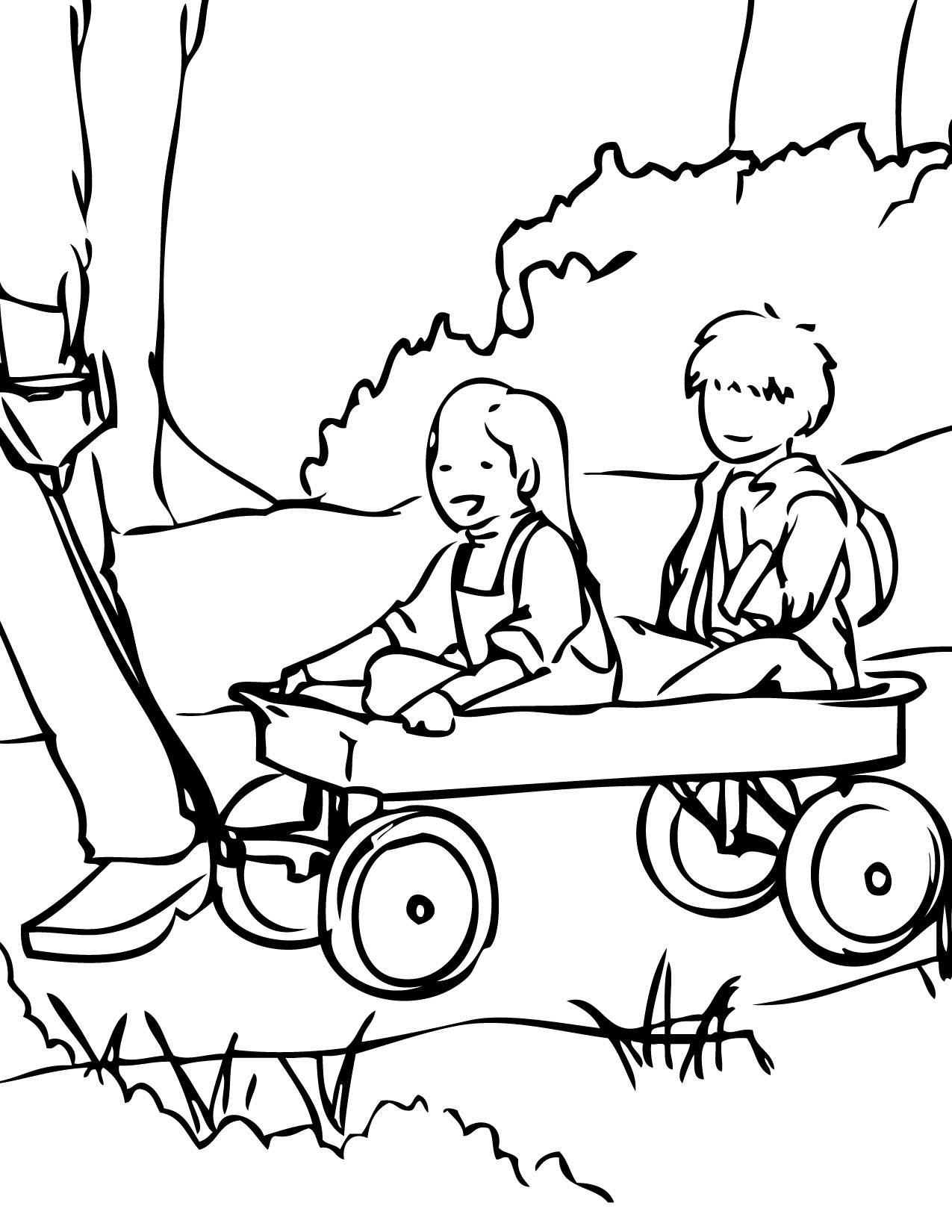wagon coloring page handipoints