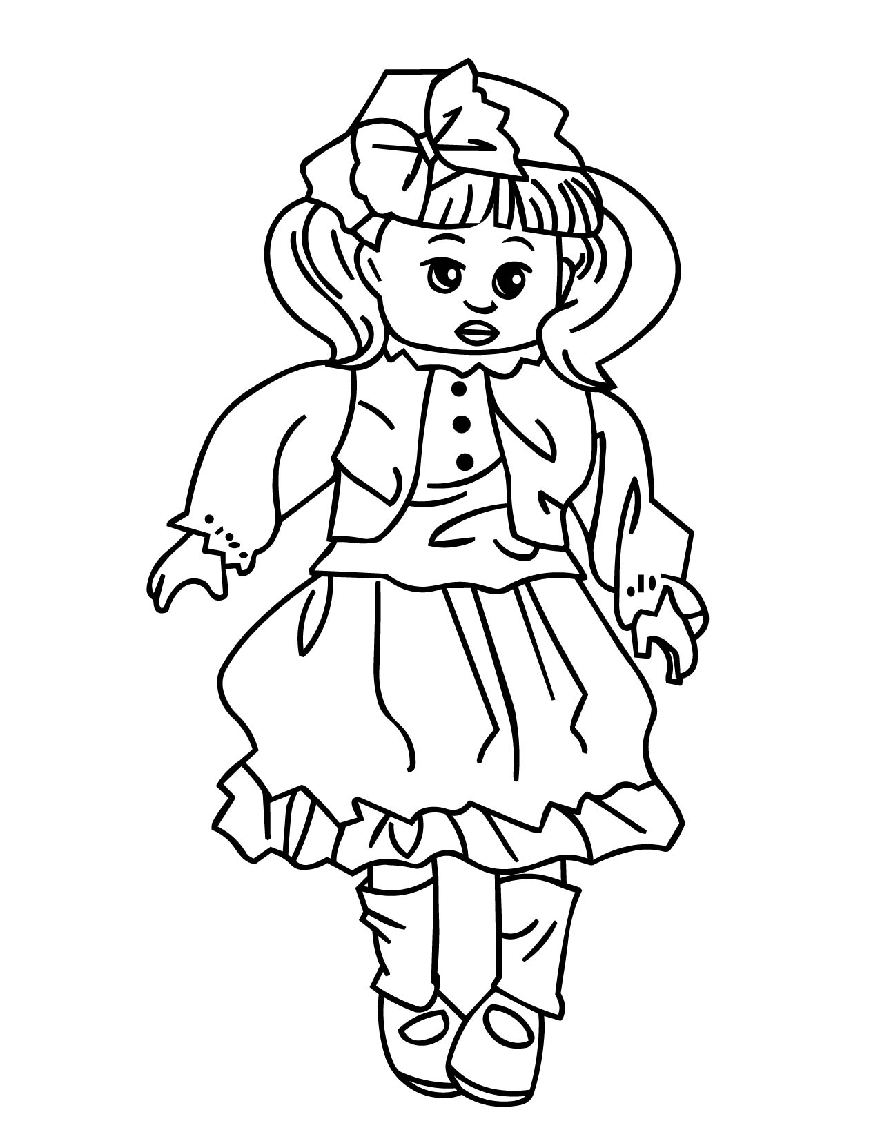 Doll Coloring Page Handipoints