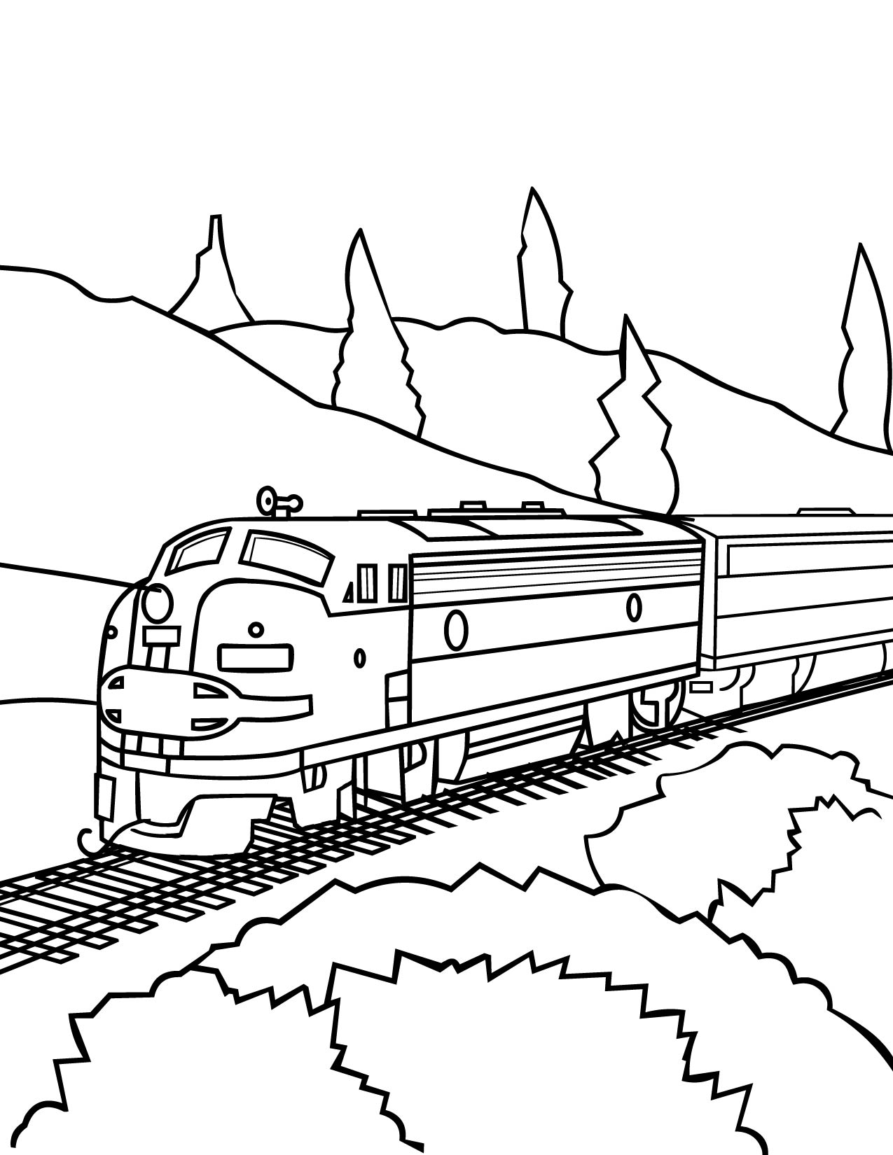 model train - Train Coloring Pages