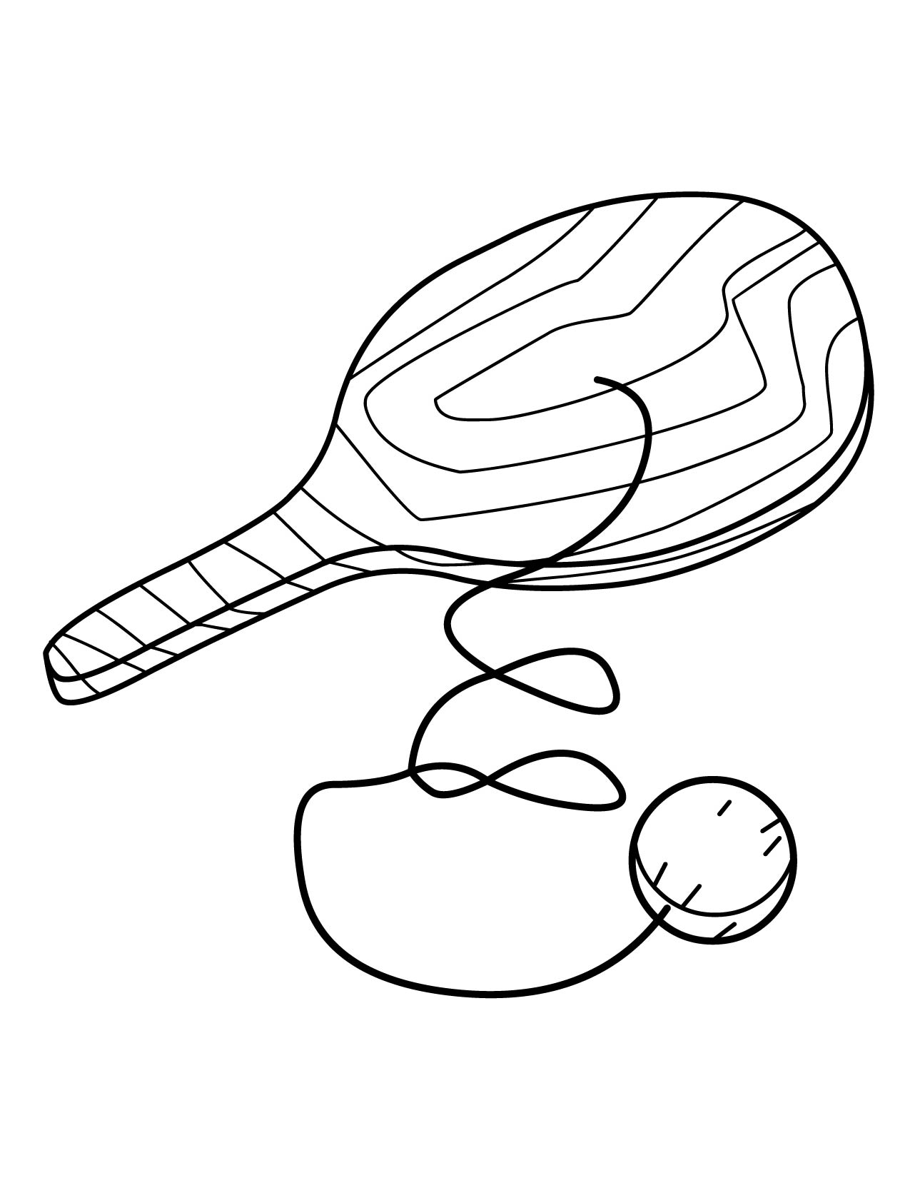 paddle ball coloring page handipoints