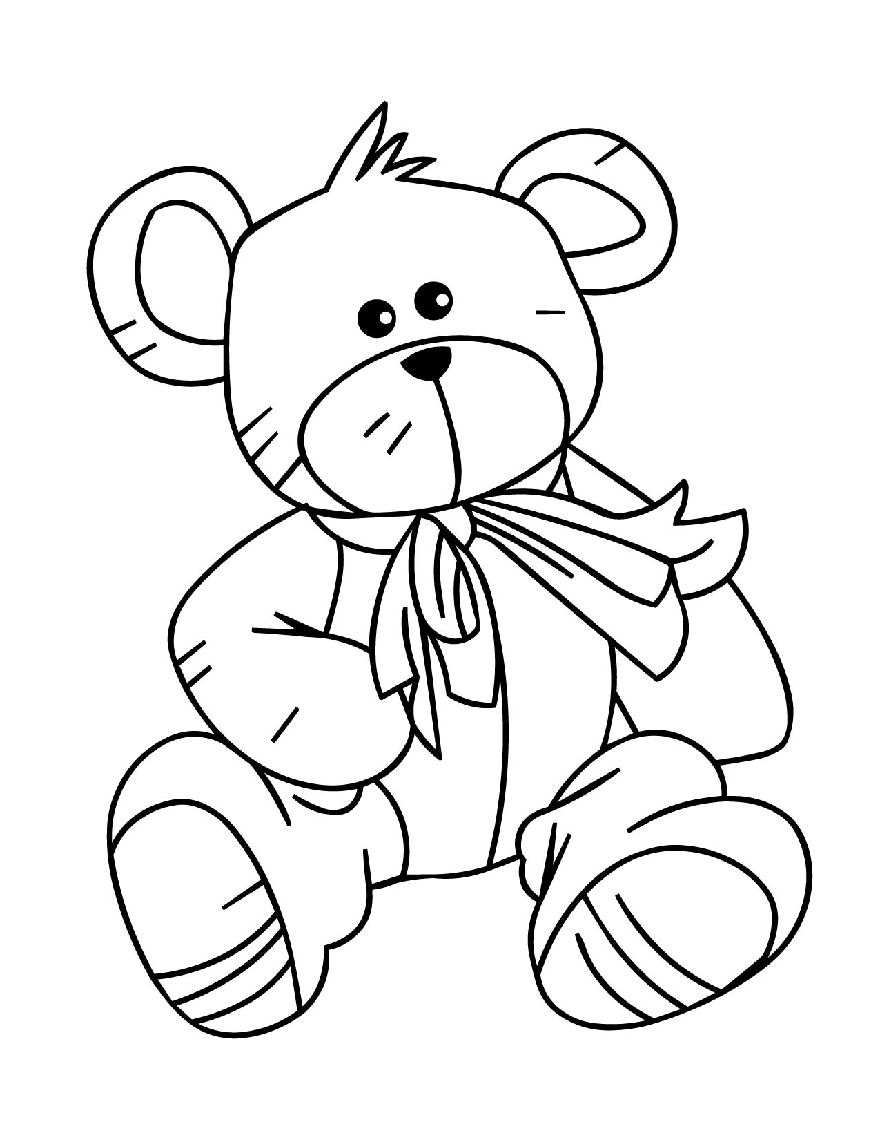 Teddy Bear Coloring Page Handipoints