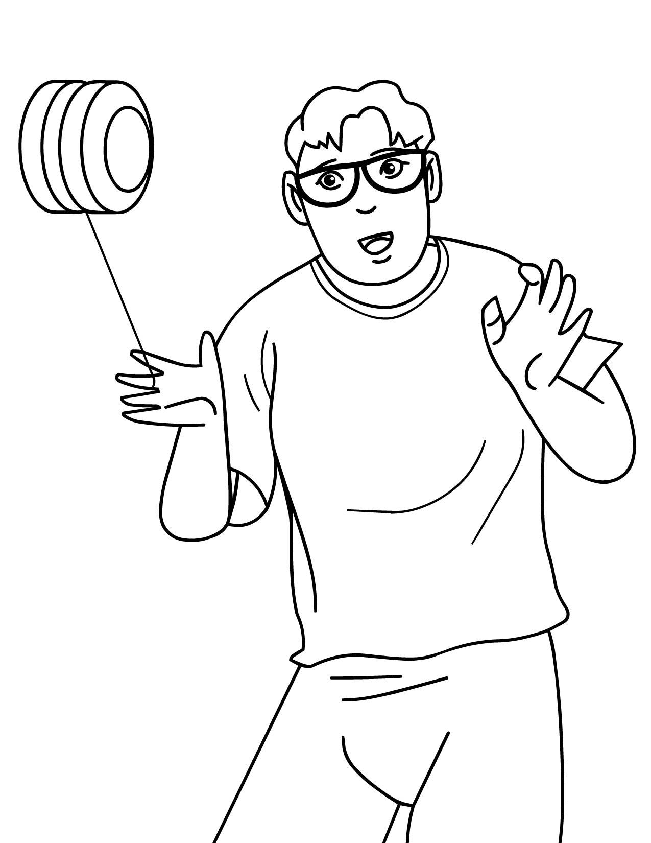 yo yo - Coloring Page Yoyo