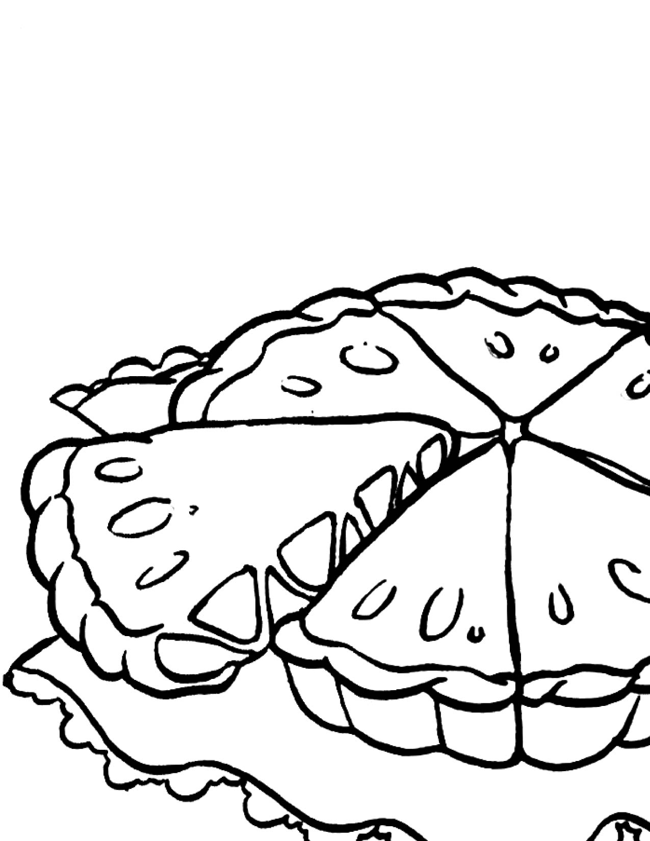 Coloring Pages Apple Pie : Apple pie coloring page handipoints