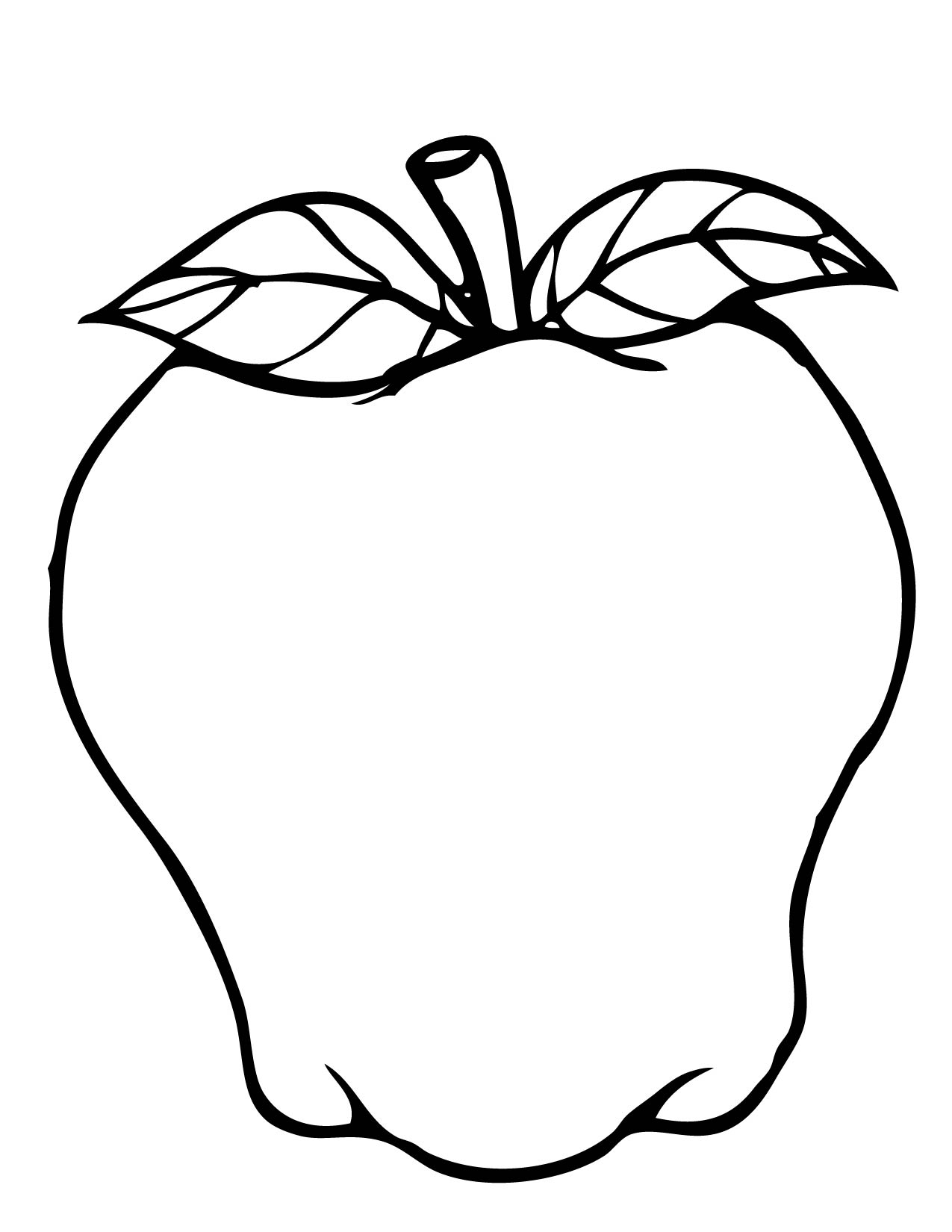 a apple coloring pages - photo #29
