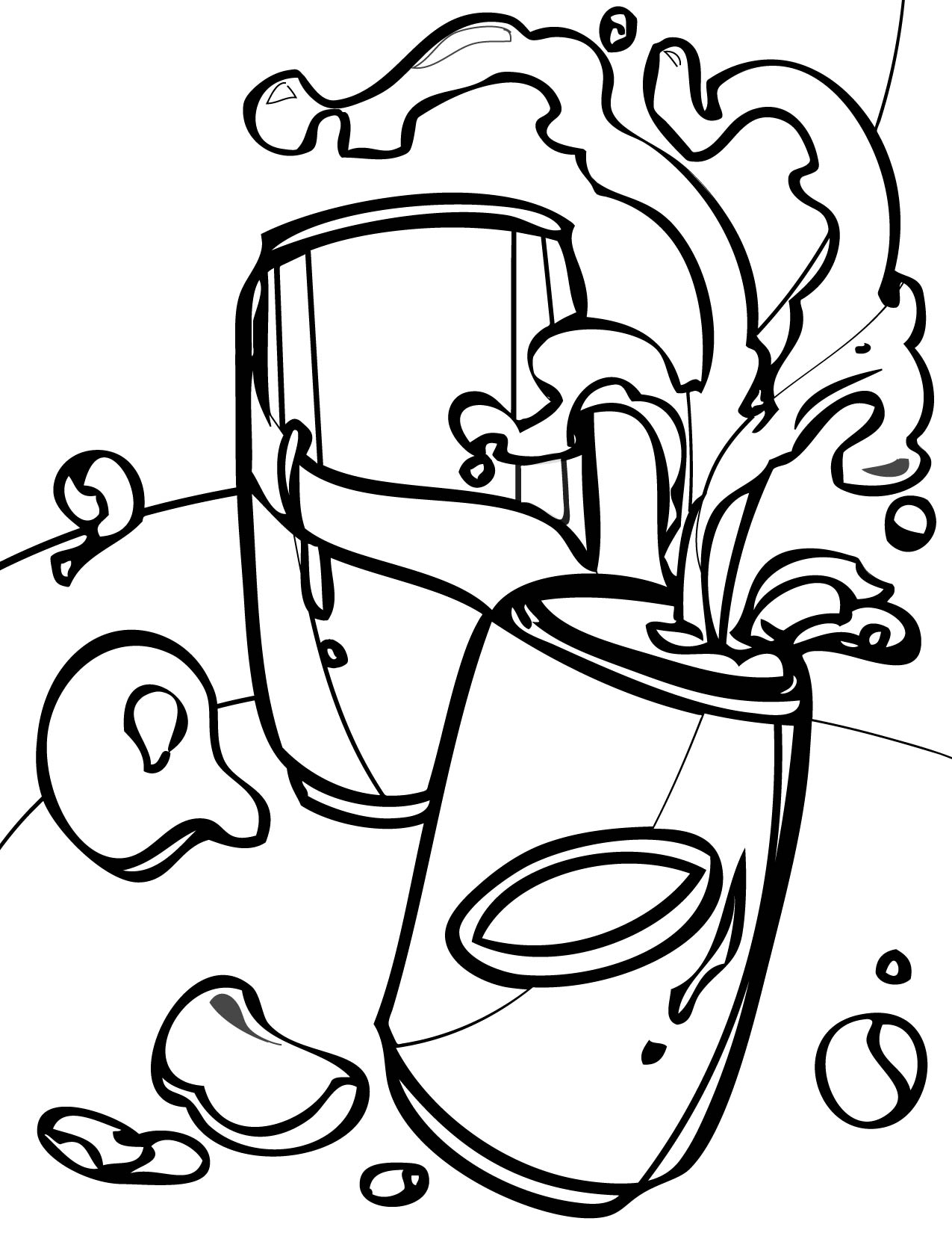 no soda coloring pages - photo#3