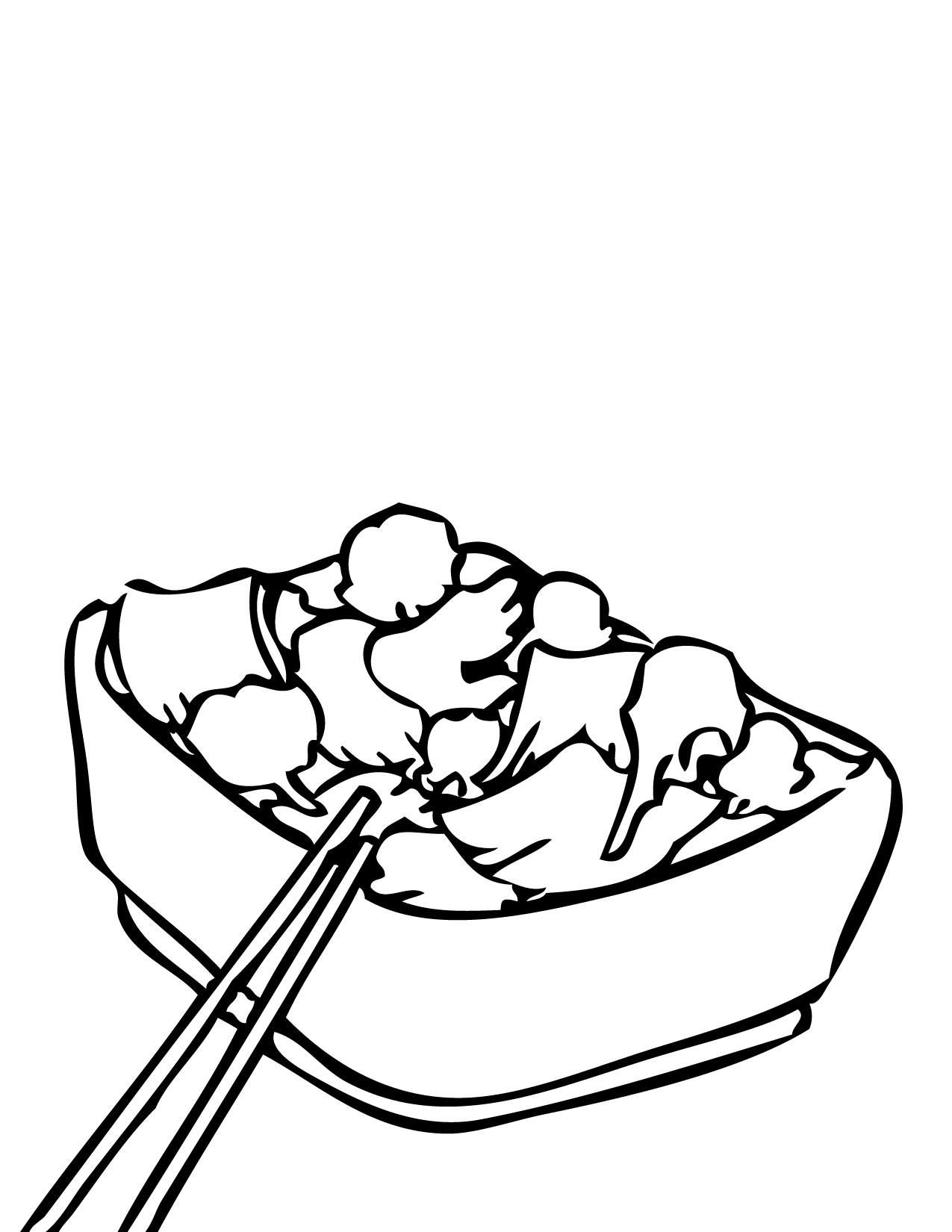 Chinese Foods Coloring Pages Handipoints