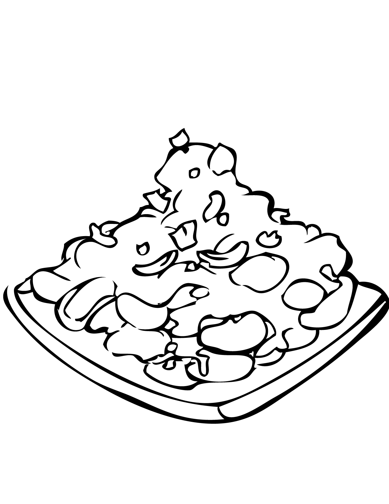 Kung Pao Chicken Coloring Page