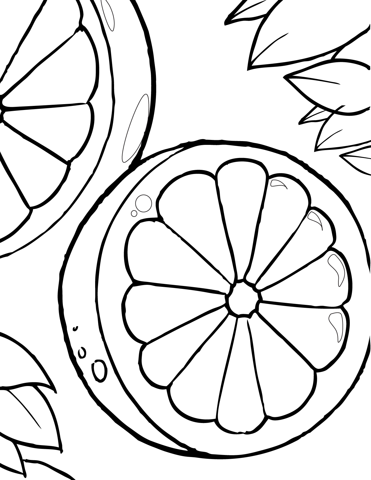 Blood Orange Coloring Page