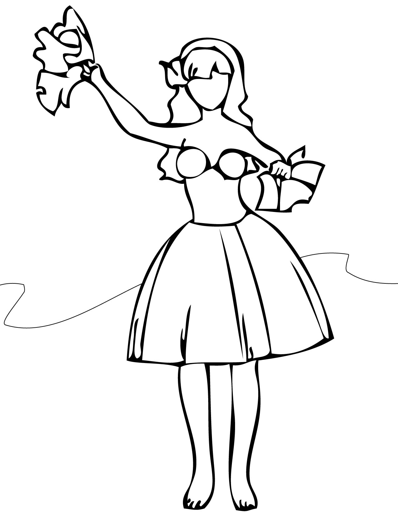 hula - Dance Coloring Pages