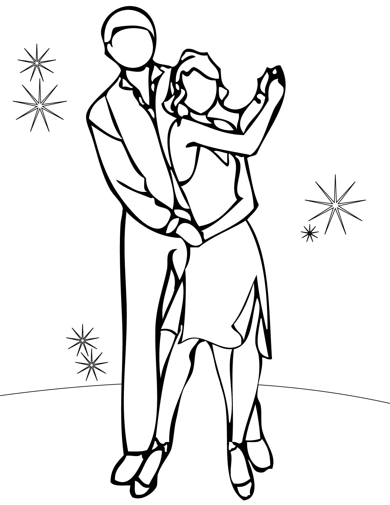 kids dancing coloring pages - photo#24