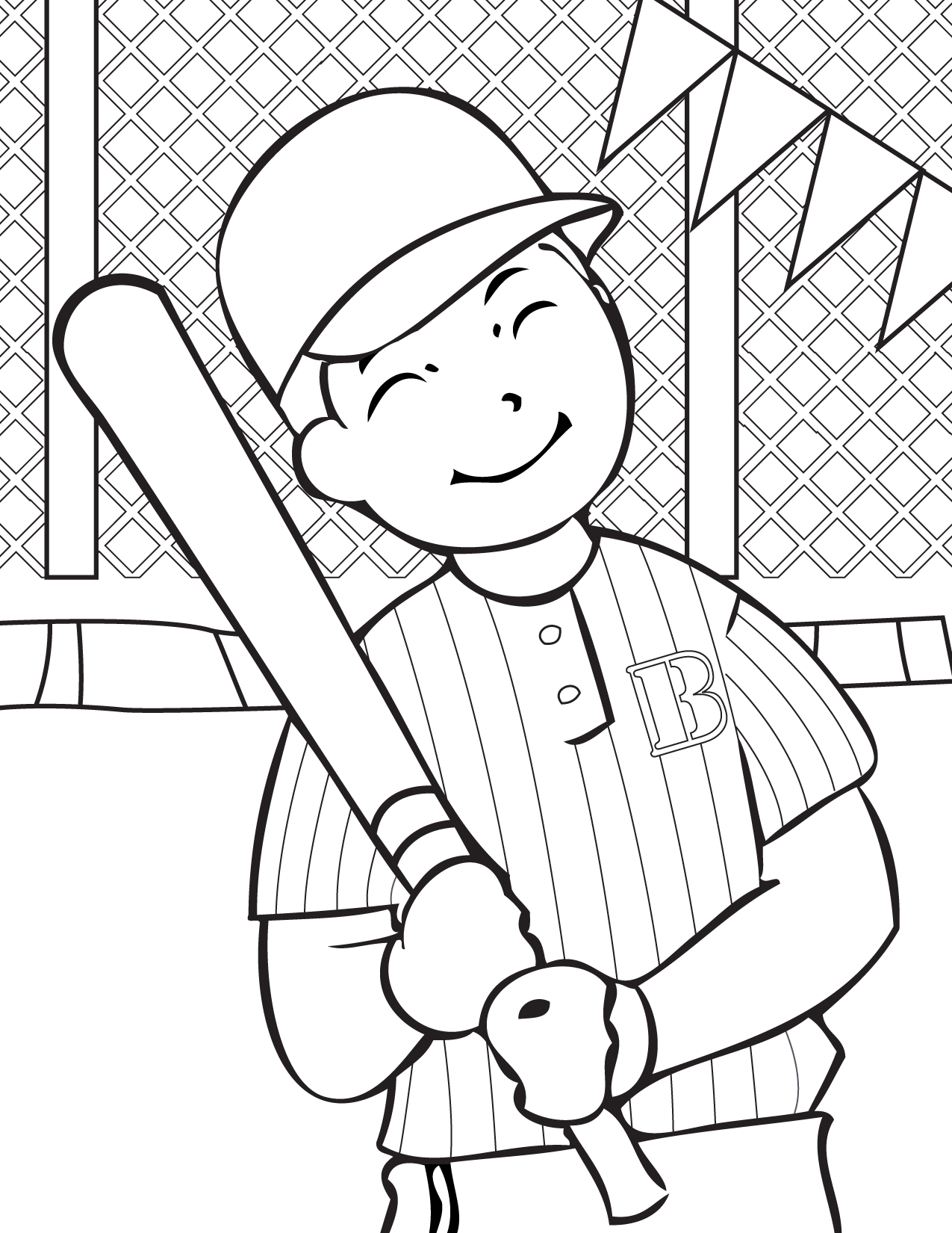 Printable coloring pages sports - Print This Page Favorite Sports Coloring Pages Coloring Pages Baseball