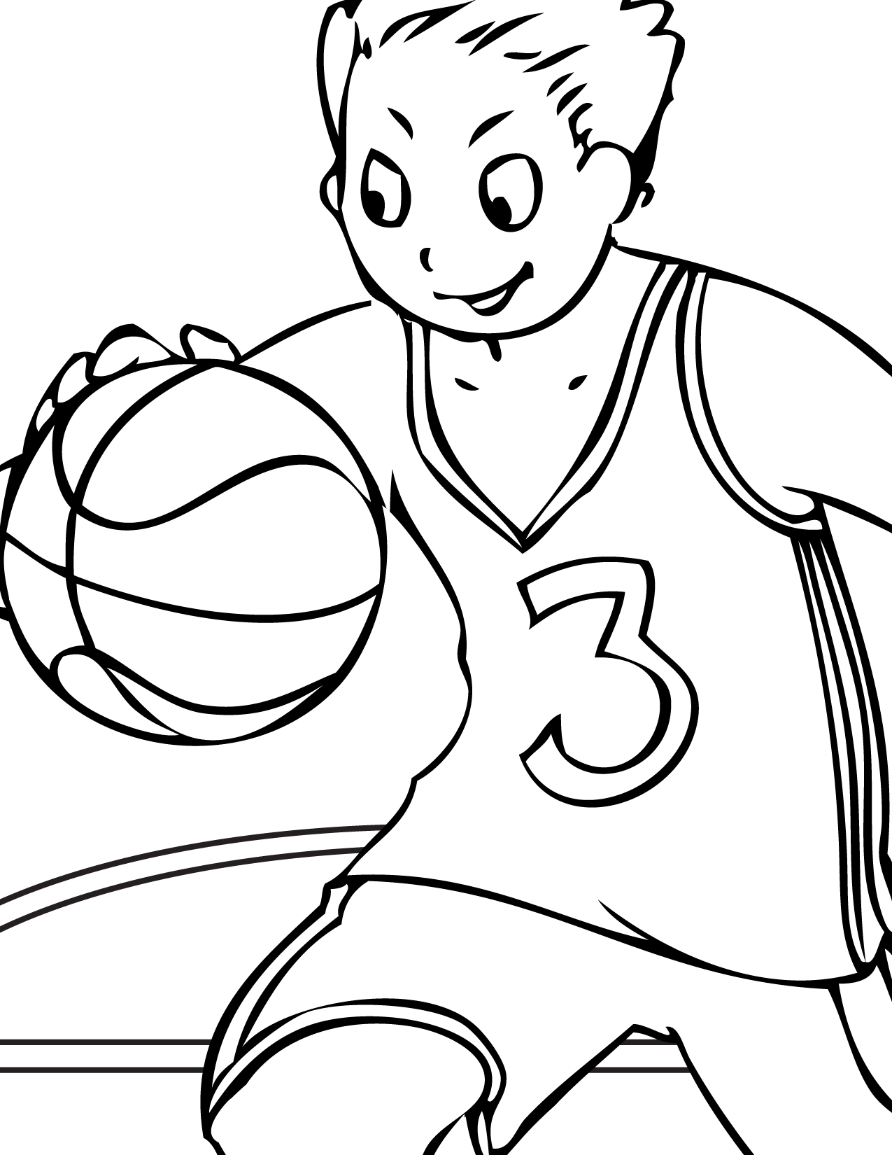 Basketball Coloring Page Handipoints