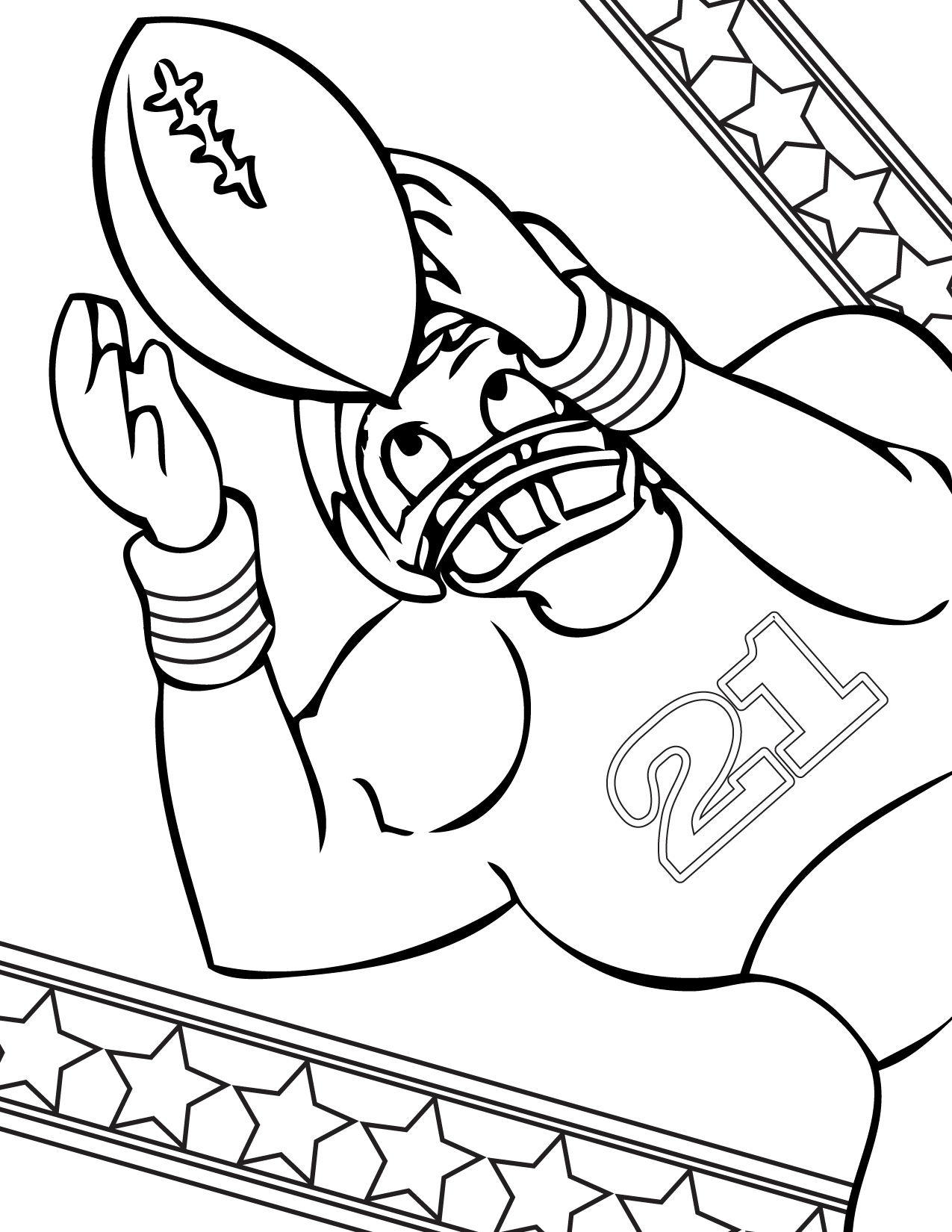 Football Coloring Page Handipoints