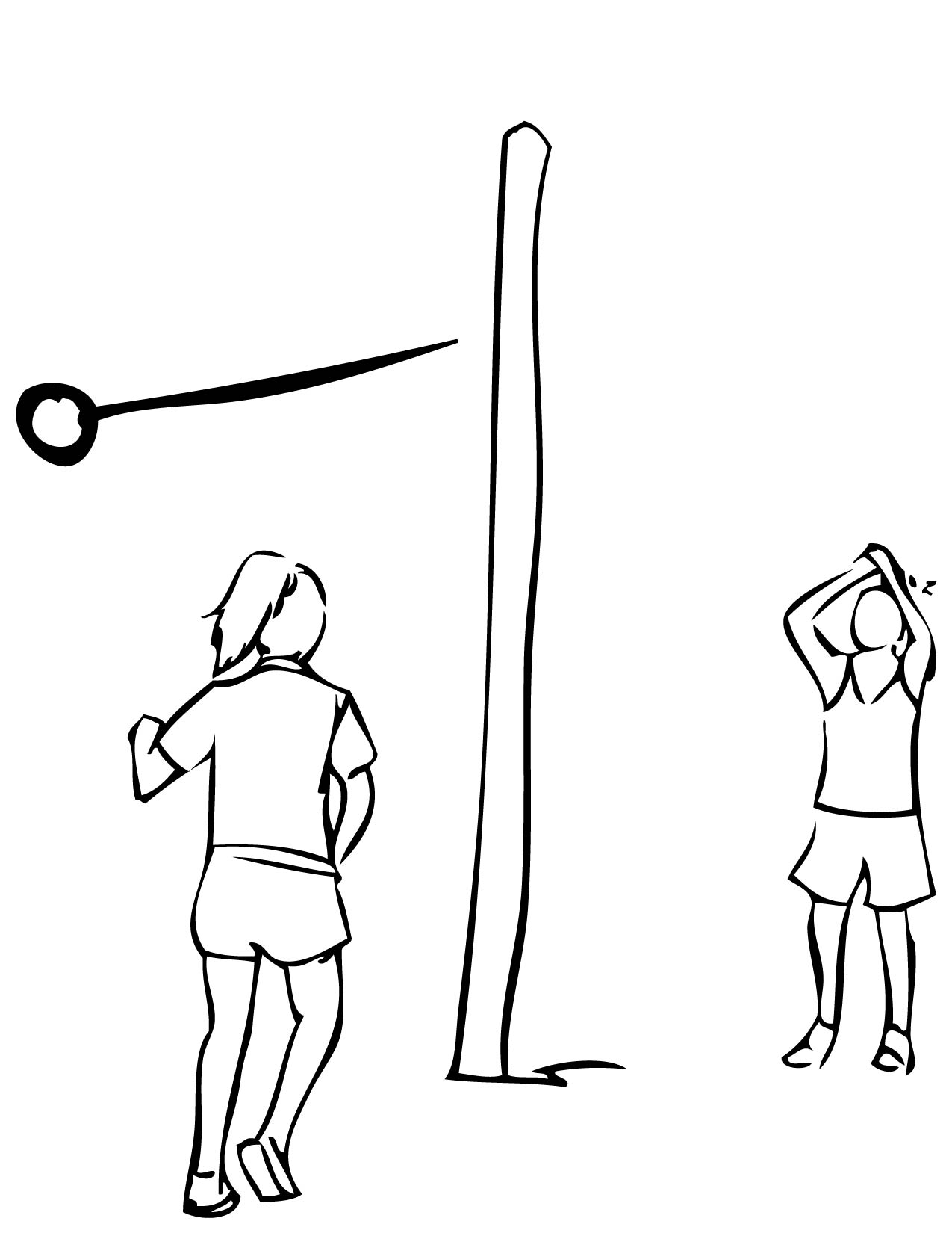 tether ball coloring page handipoints