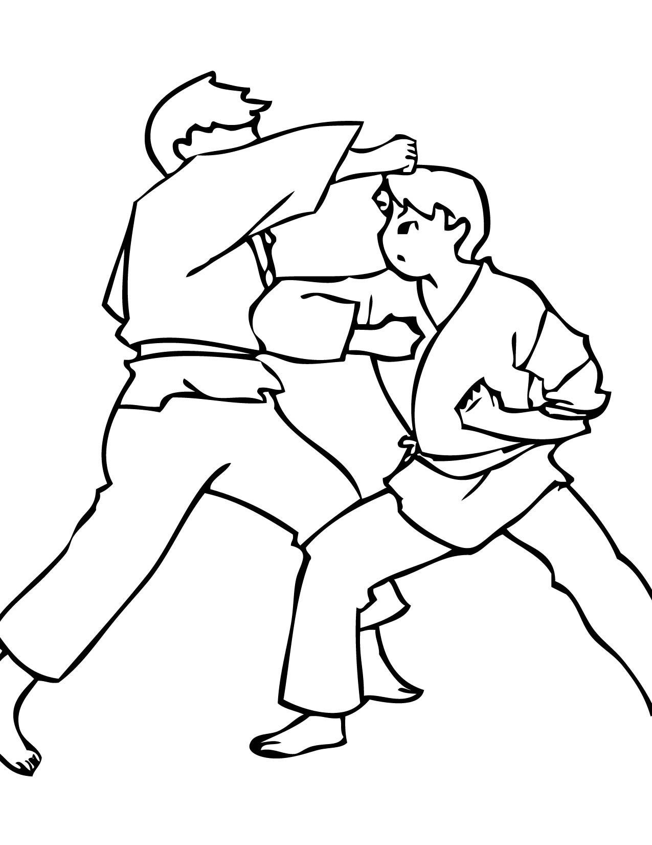 Karate Coloring Page Handipoints