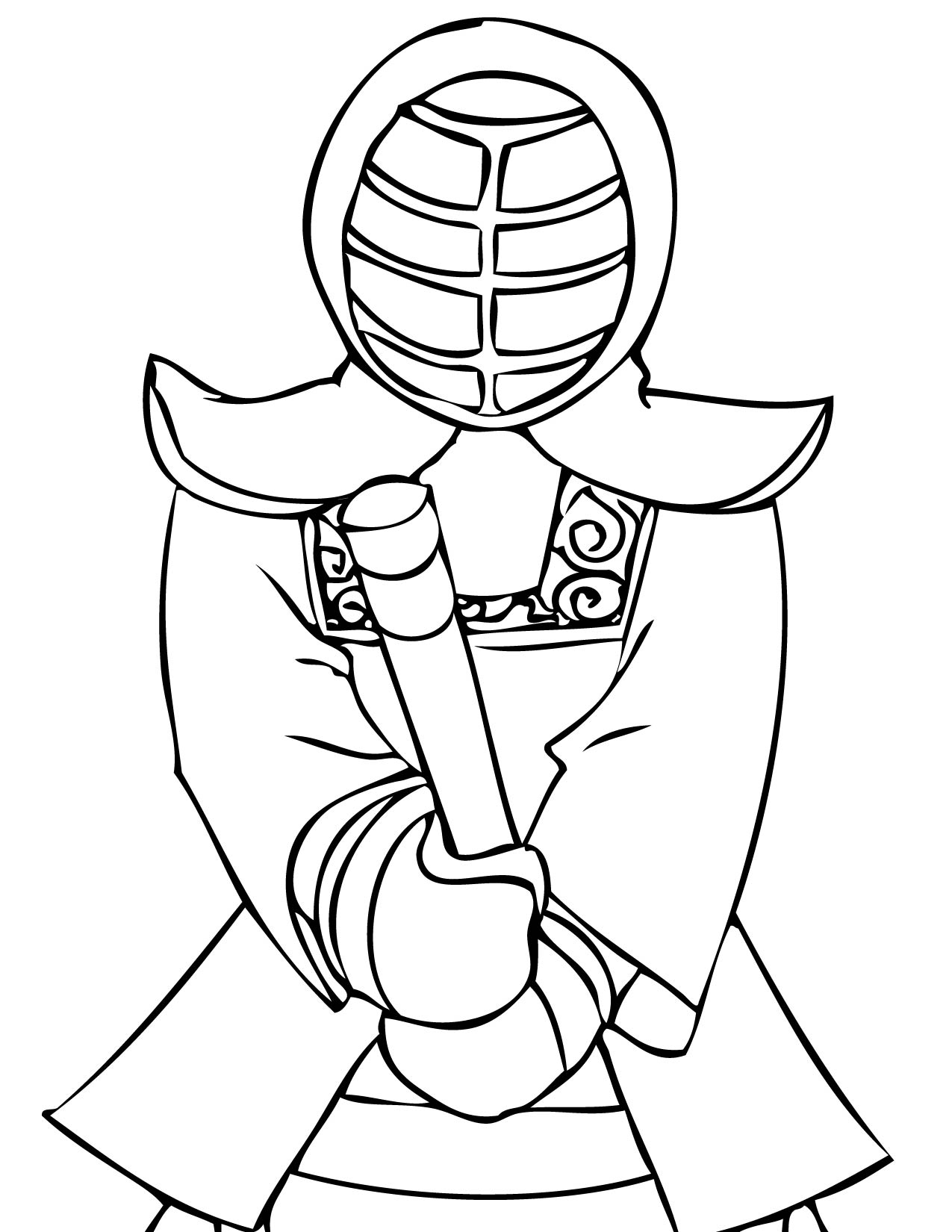 Martial Arts Coloring Pages