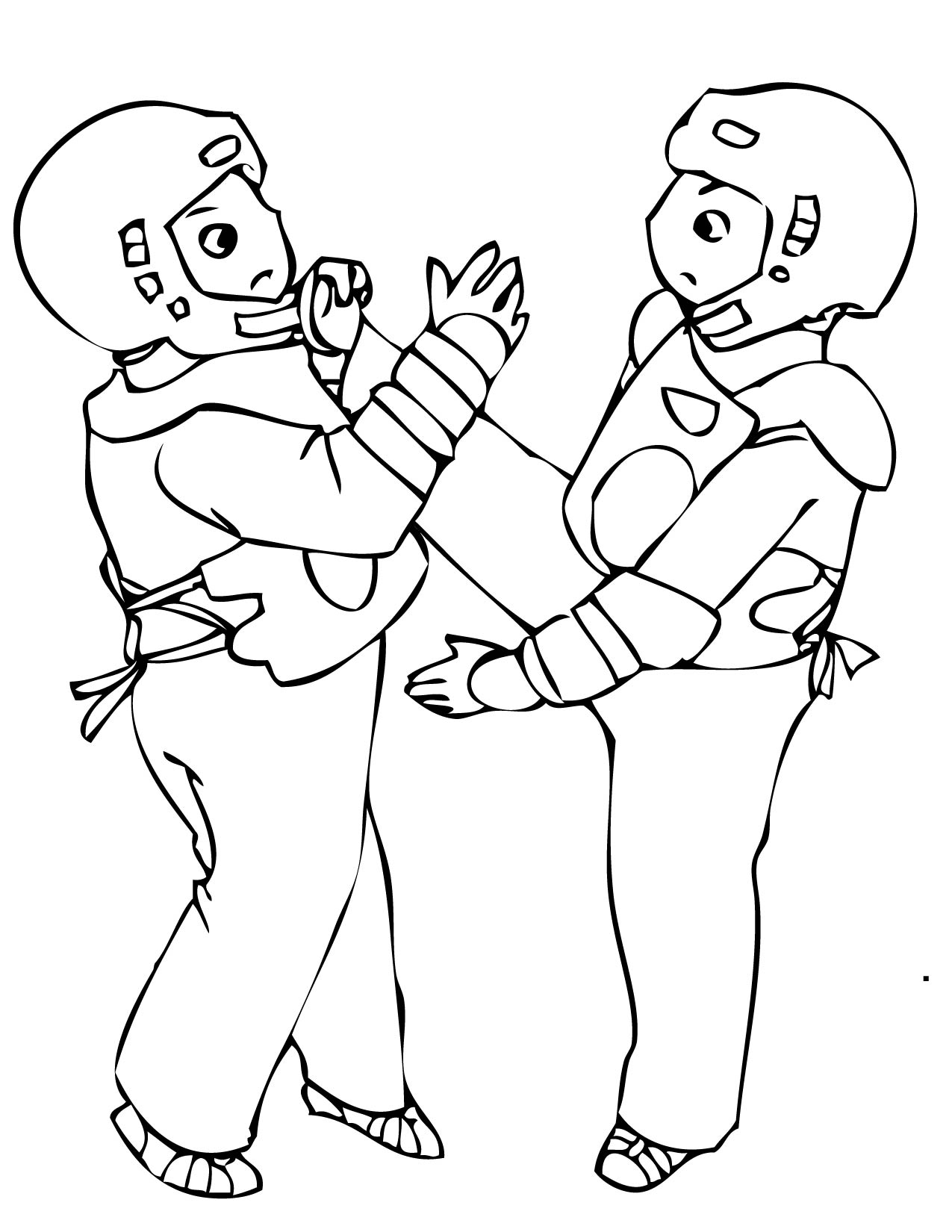 Martial Arts Free Coloring Pages