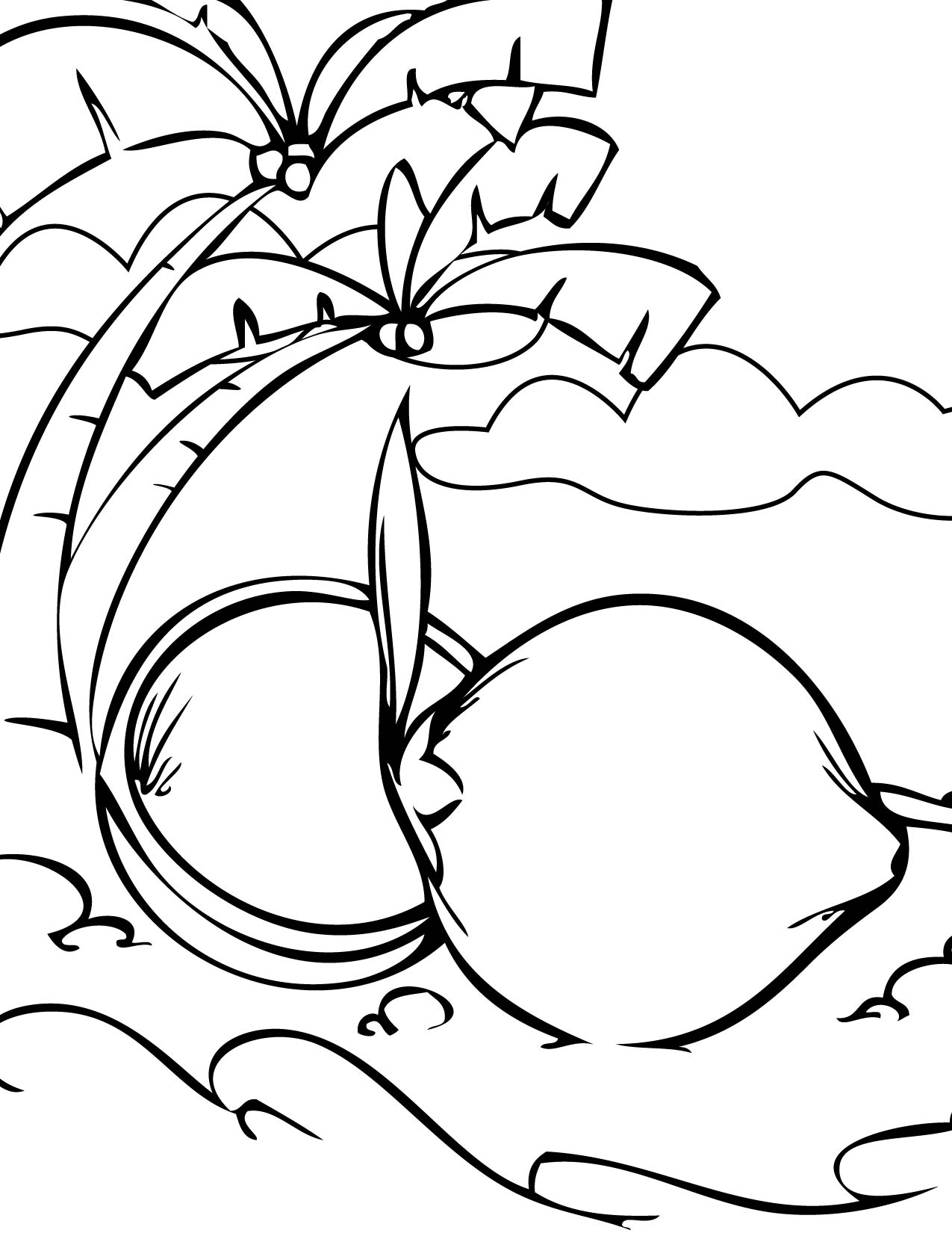 coconut coloring page handipoints