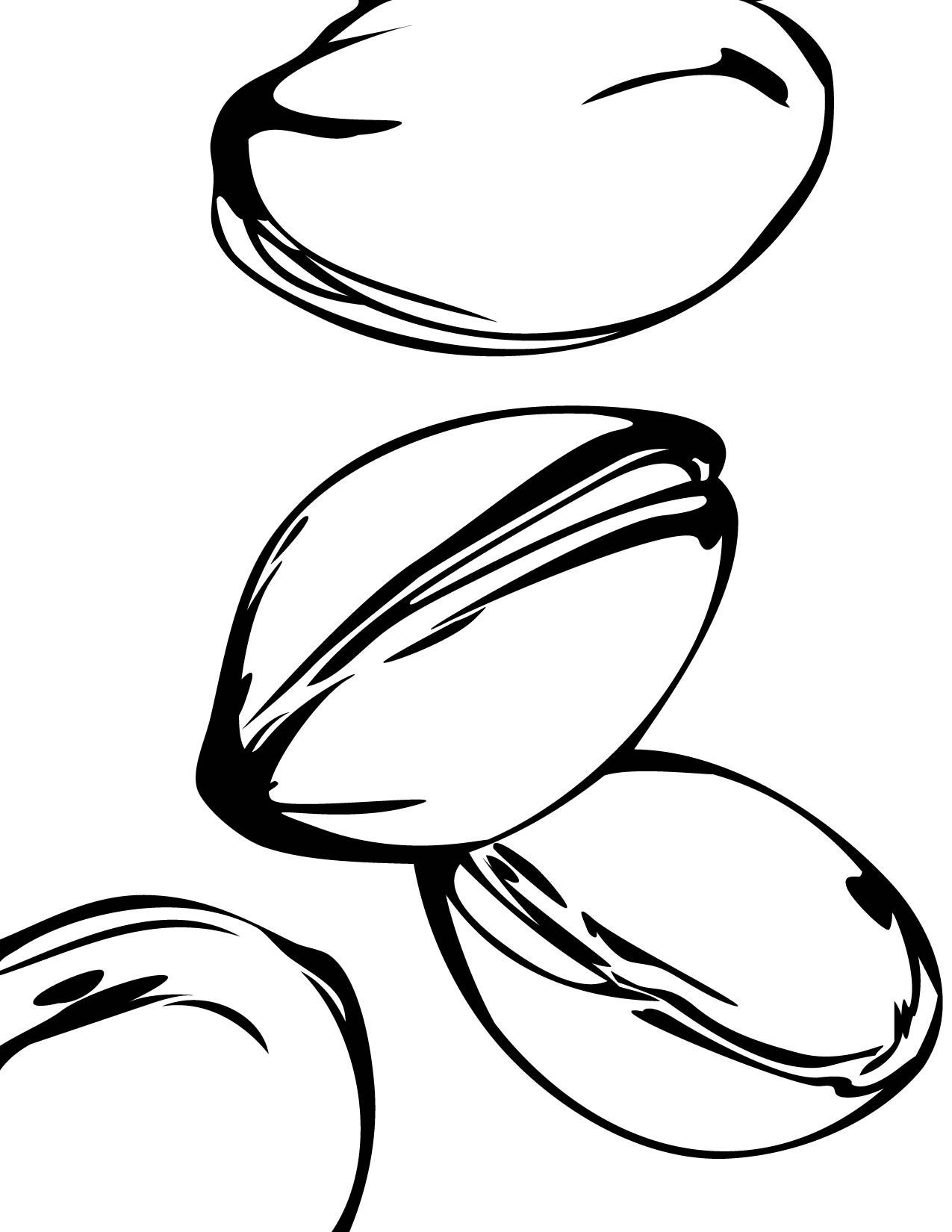 pistachio coloring page handipoints
