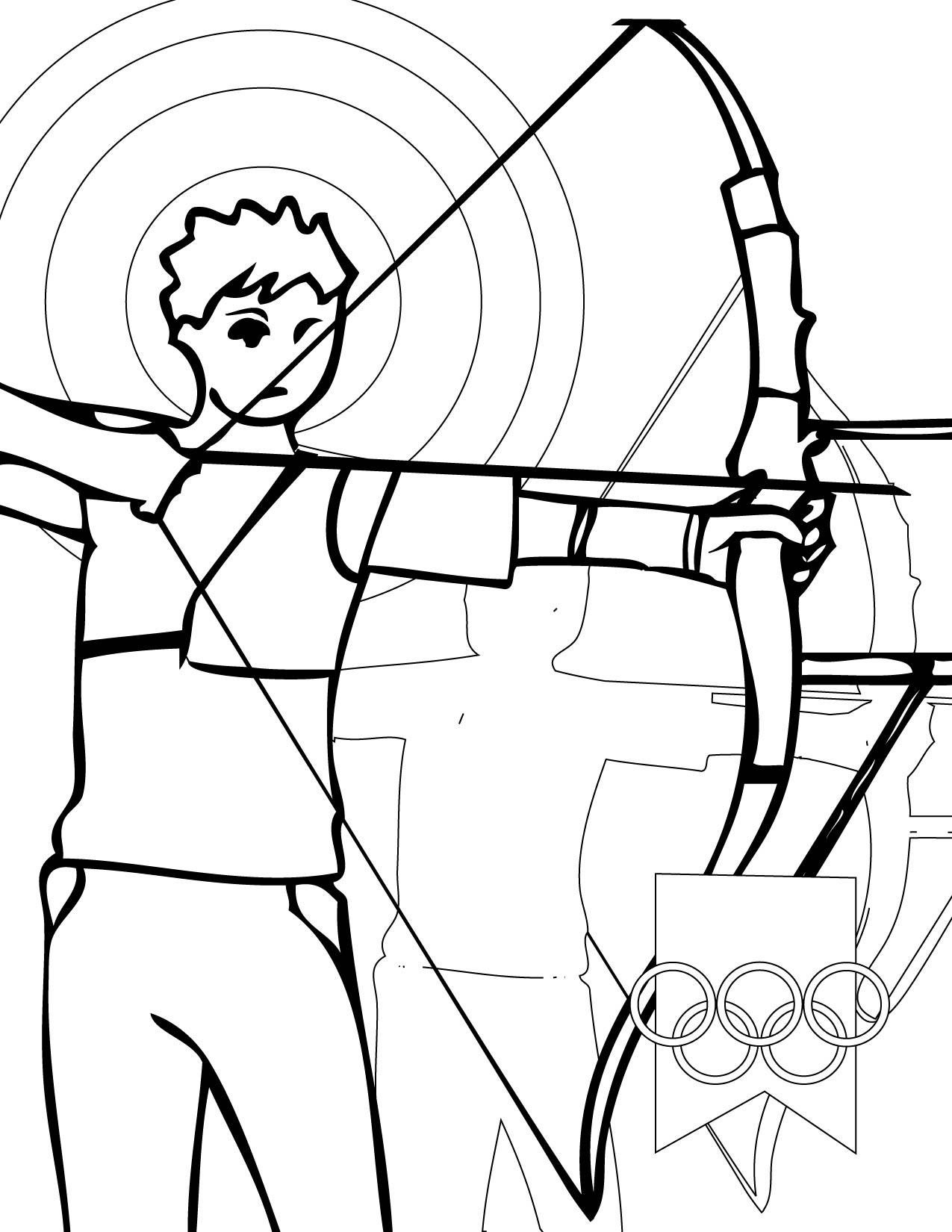 coloring pages archery pictures - photo#20