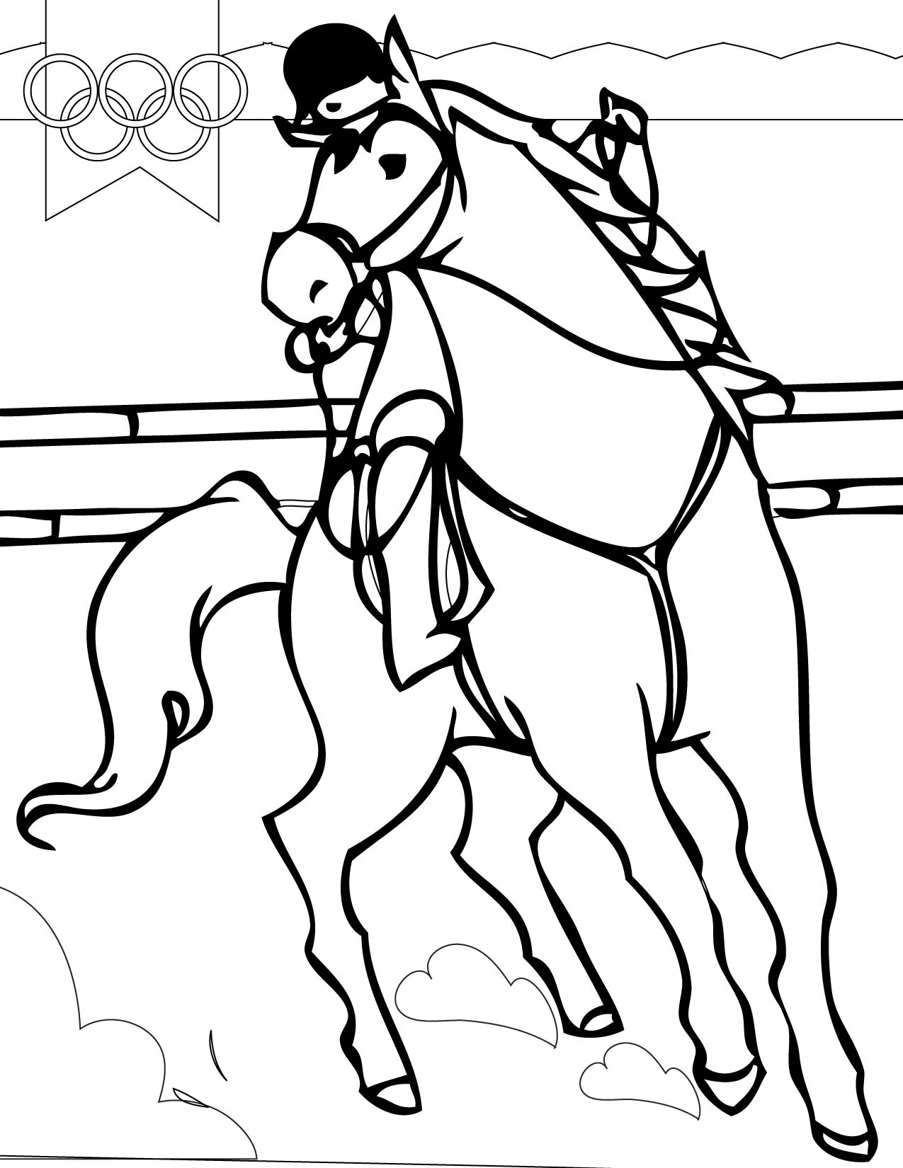Colouring pages sports - Sports Coloring Pages Coloring Pages Equestrian
