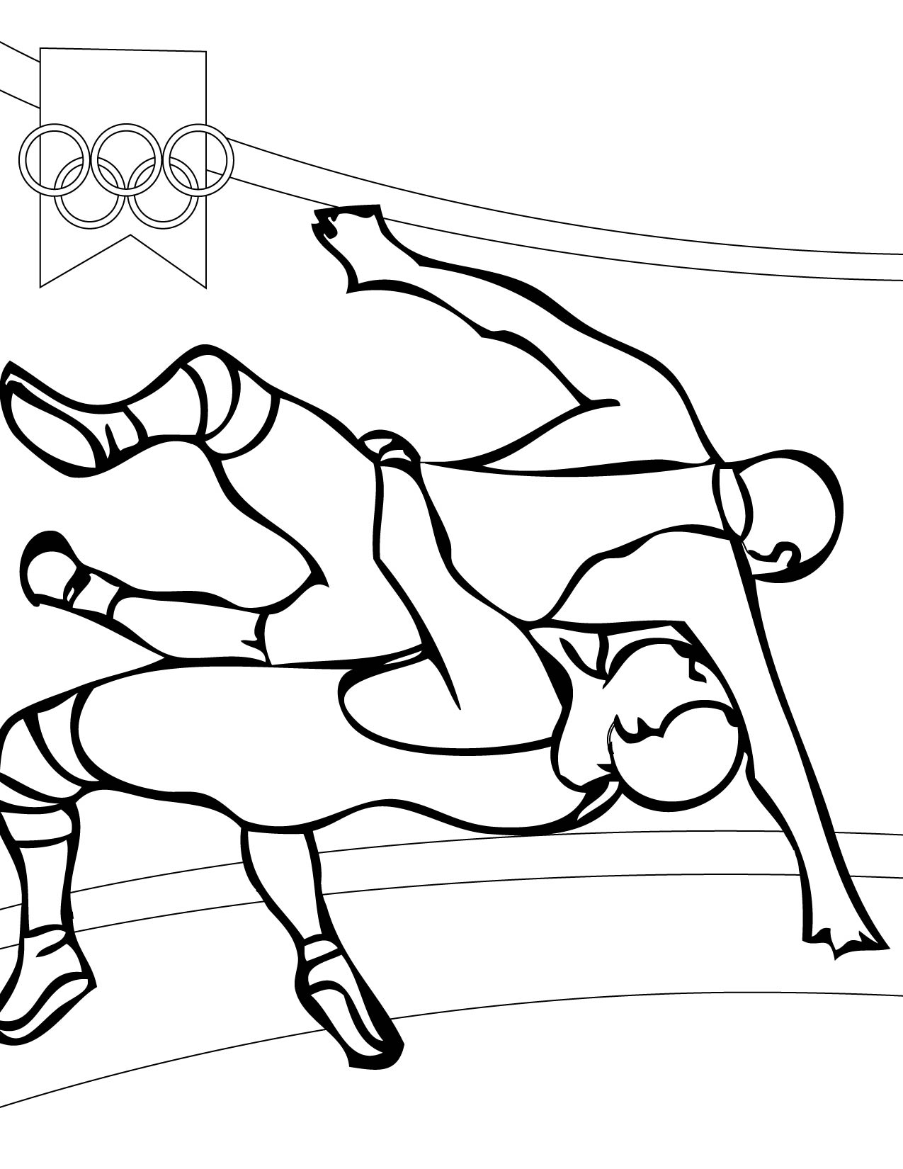 Wrestling Coloring Page Handipoints