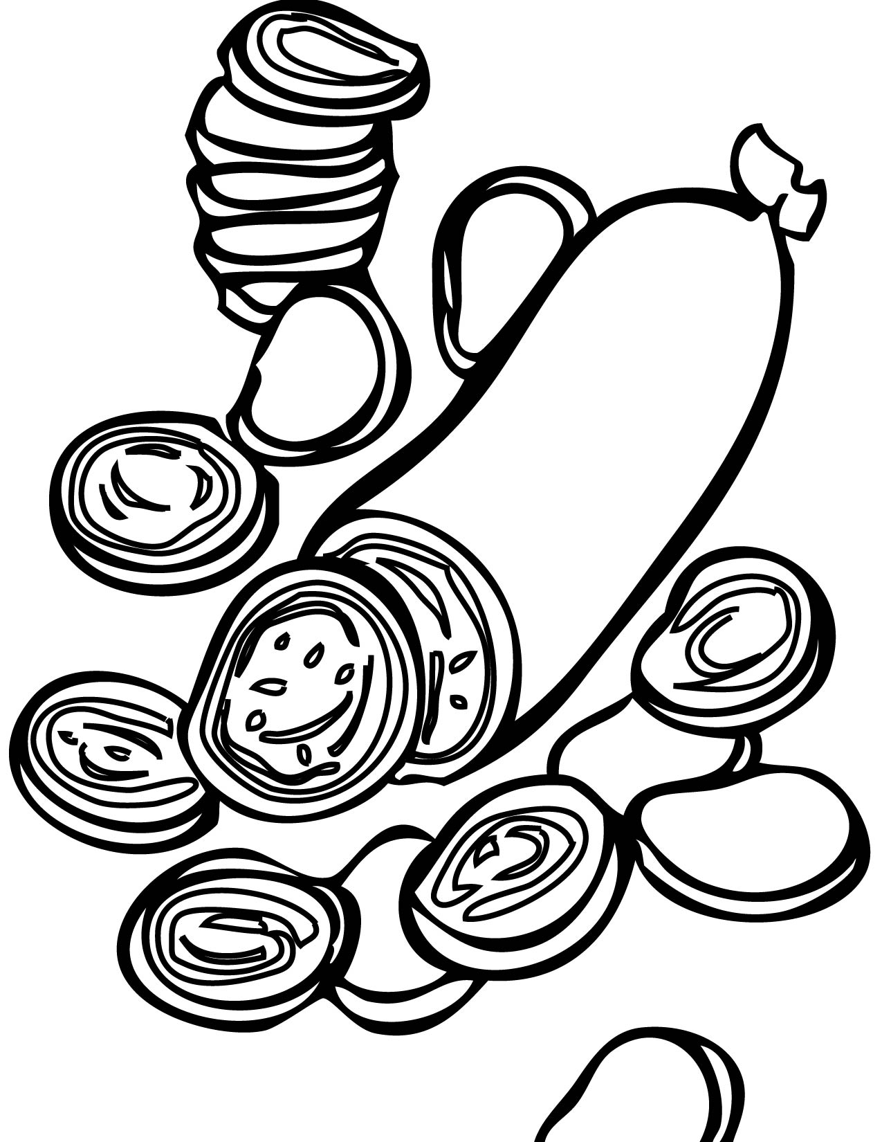 Pepperoni Coloring Page Handipoints
