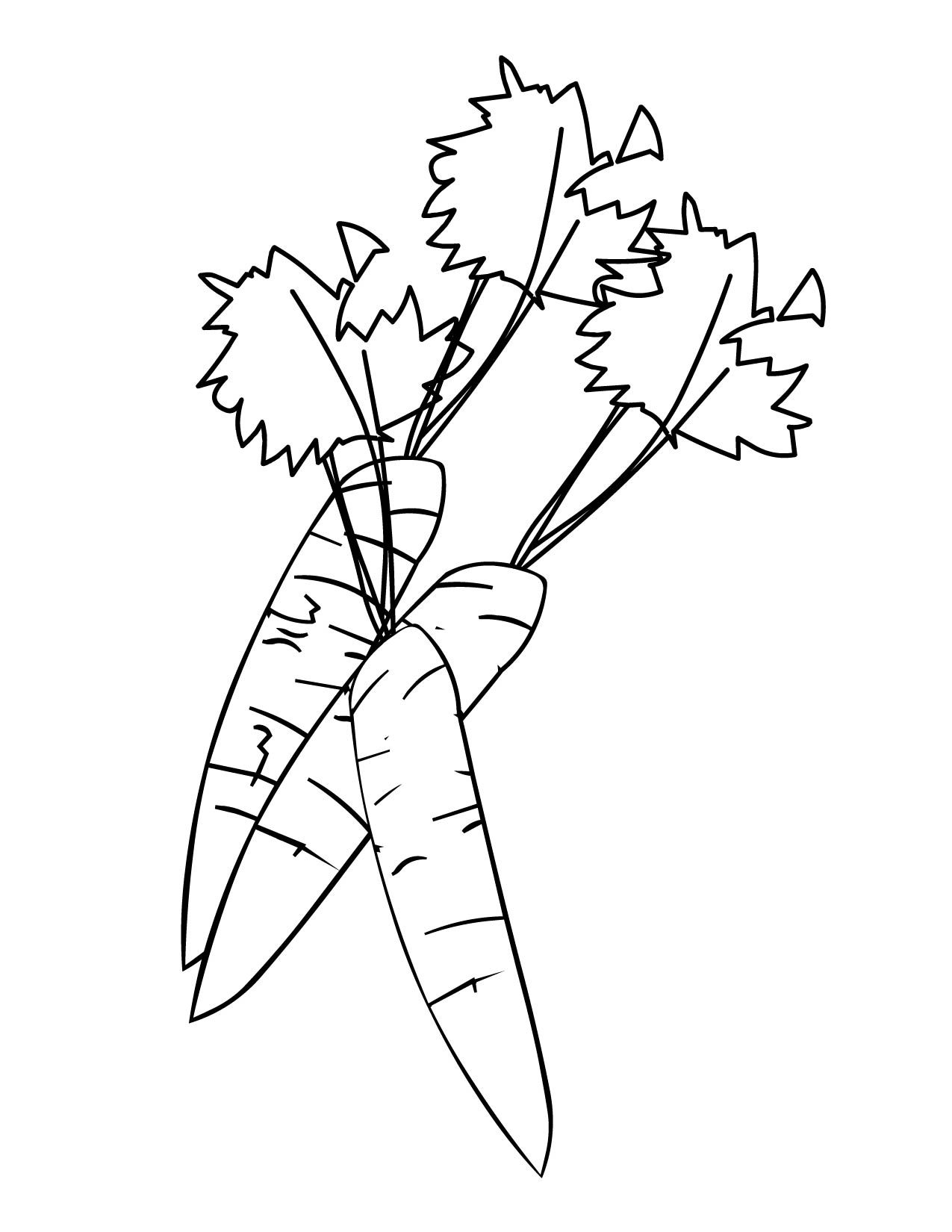 Carrot Coloring Page Handipoints