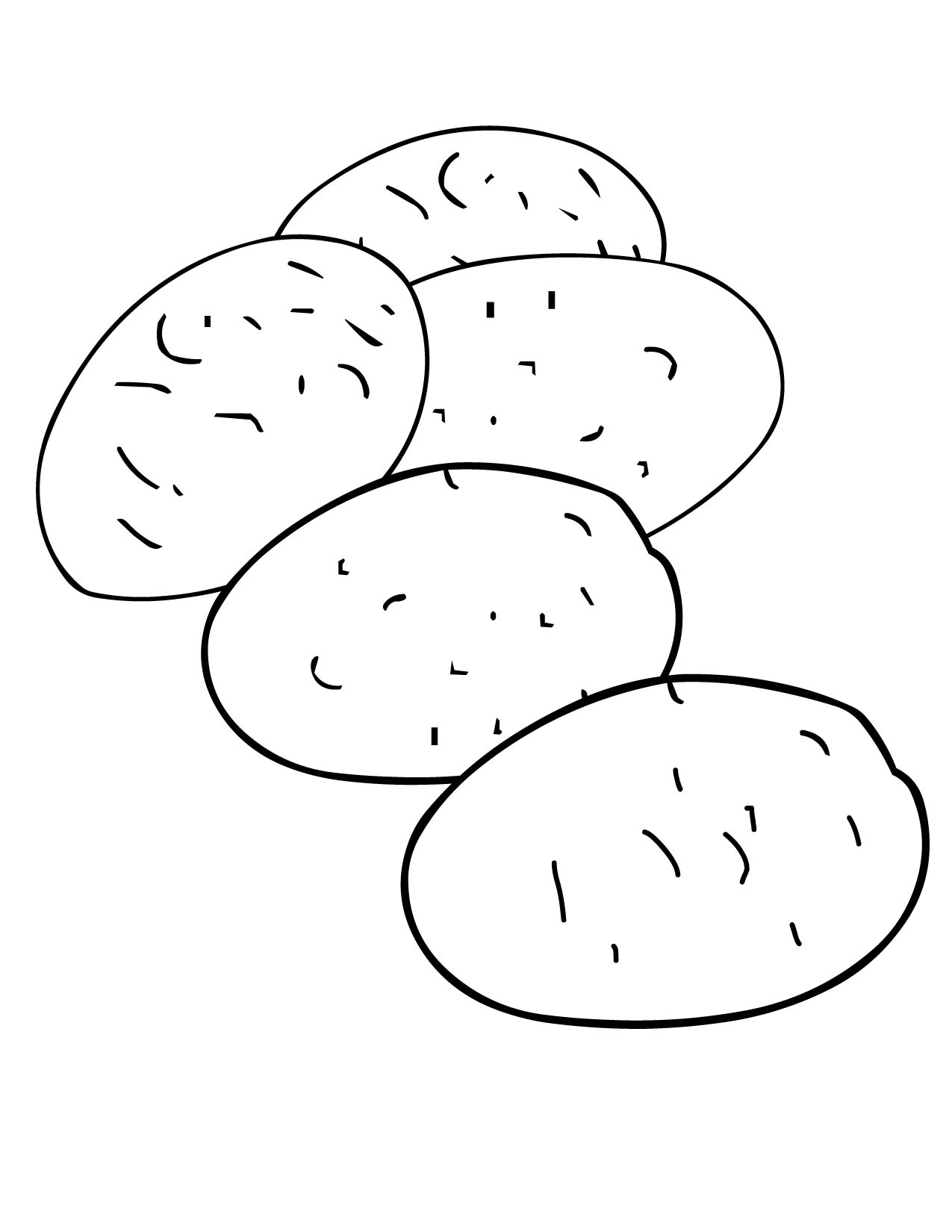 Root Vegetable Coloring Pages