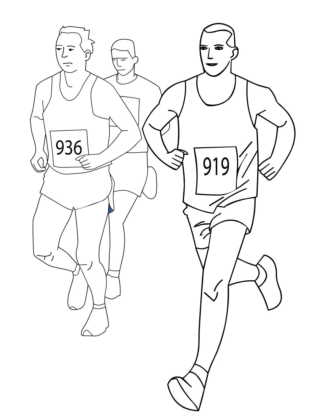 running a race coloring pages - photo#13