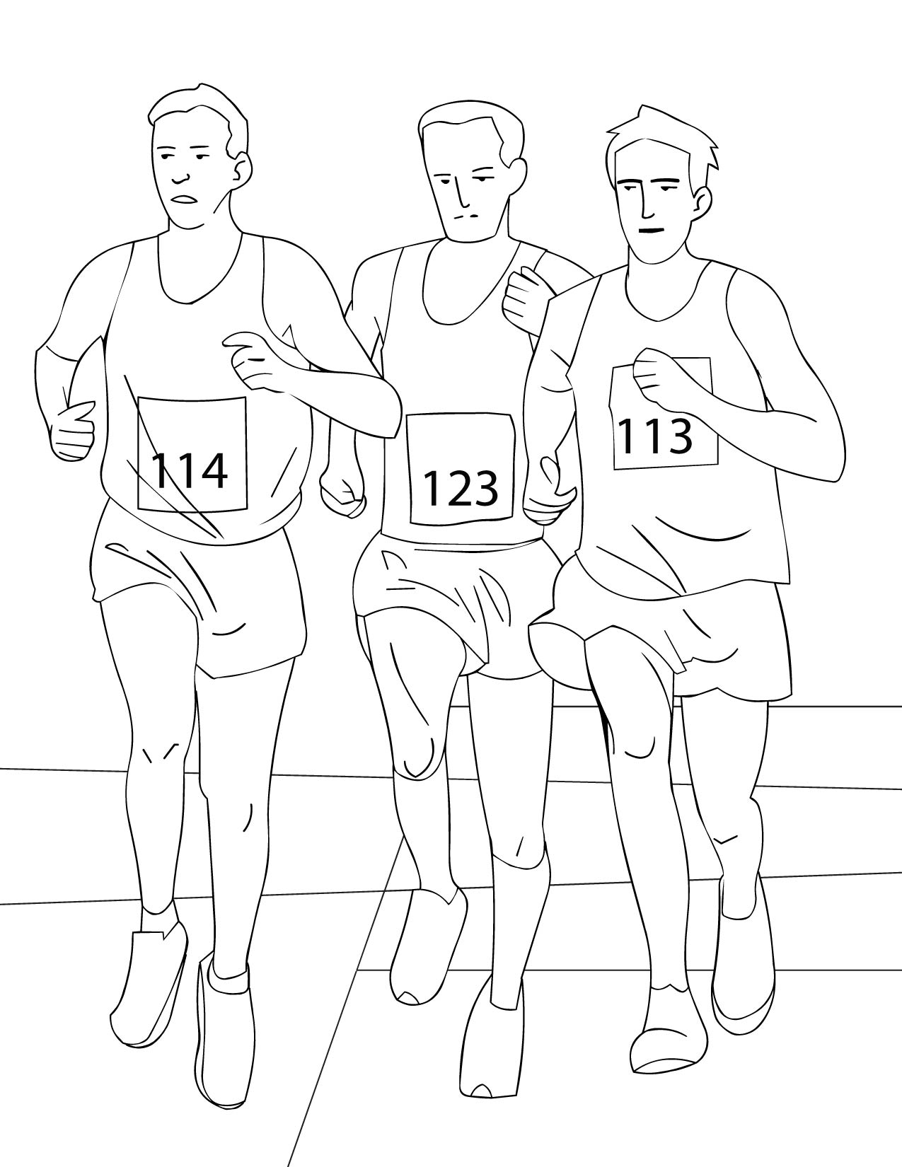 running a race coloring pages - photo#26