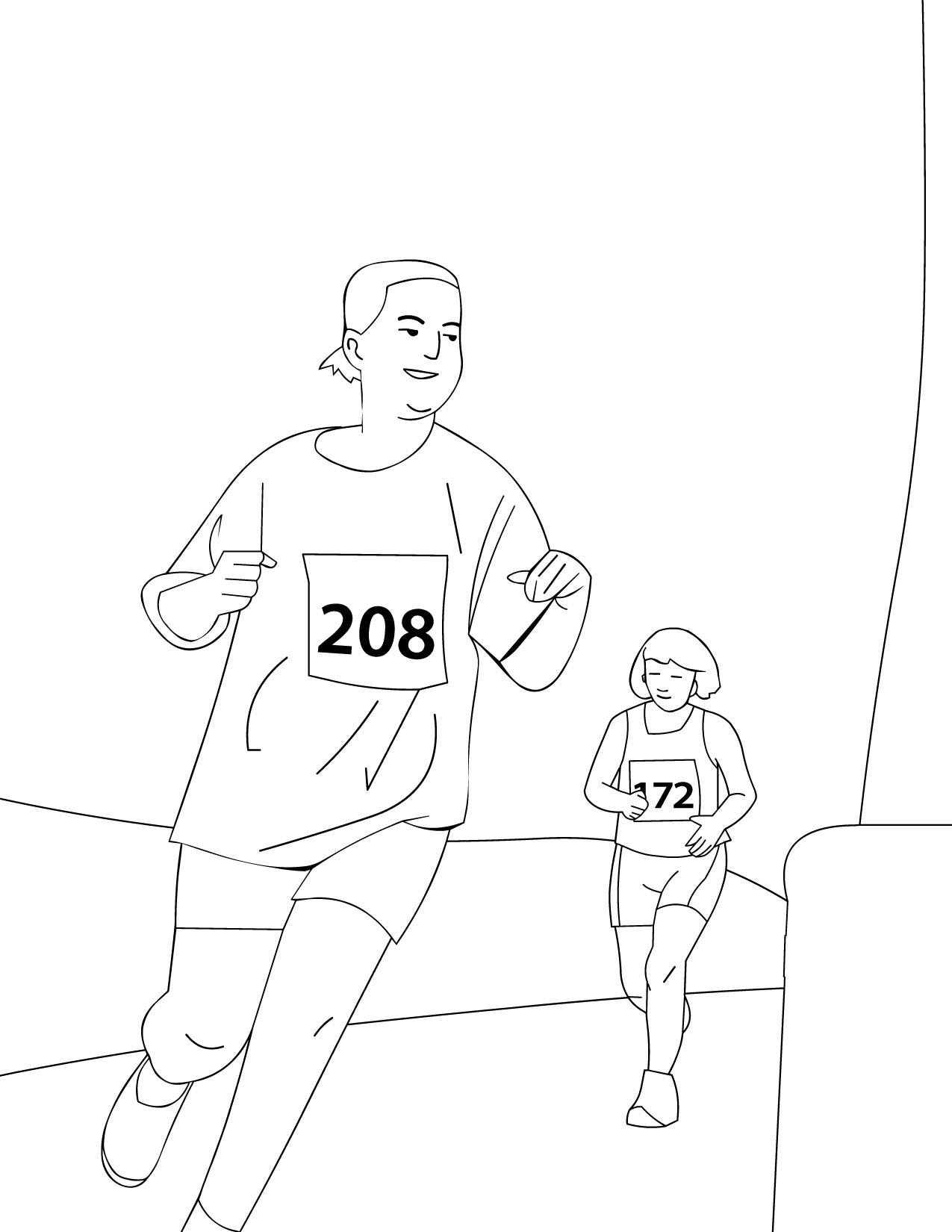 coloring pages running coloring pages running coloring pages handipoints half marathon