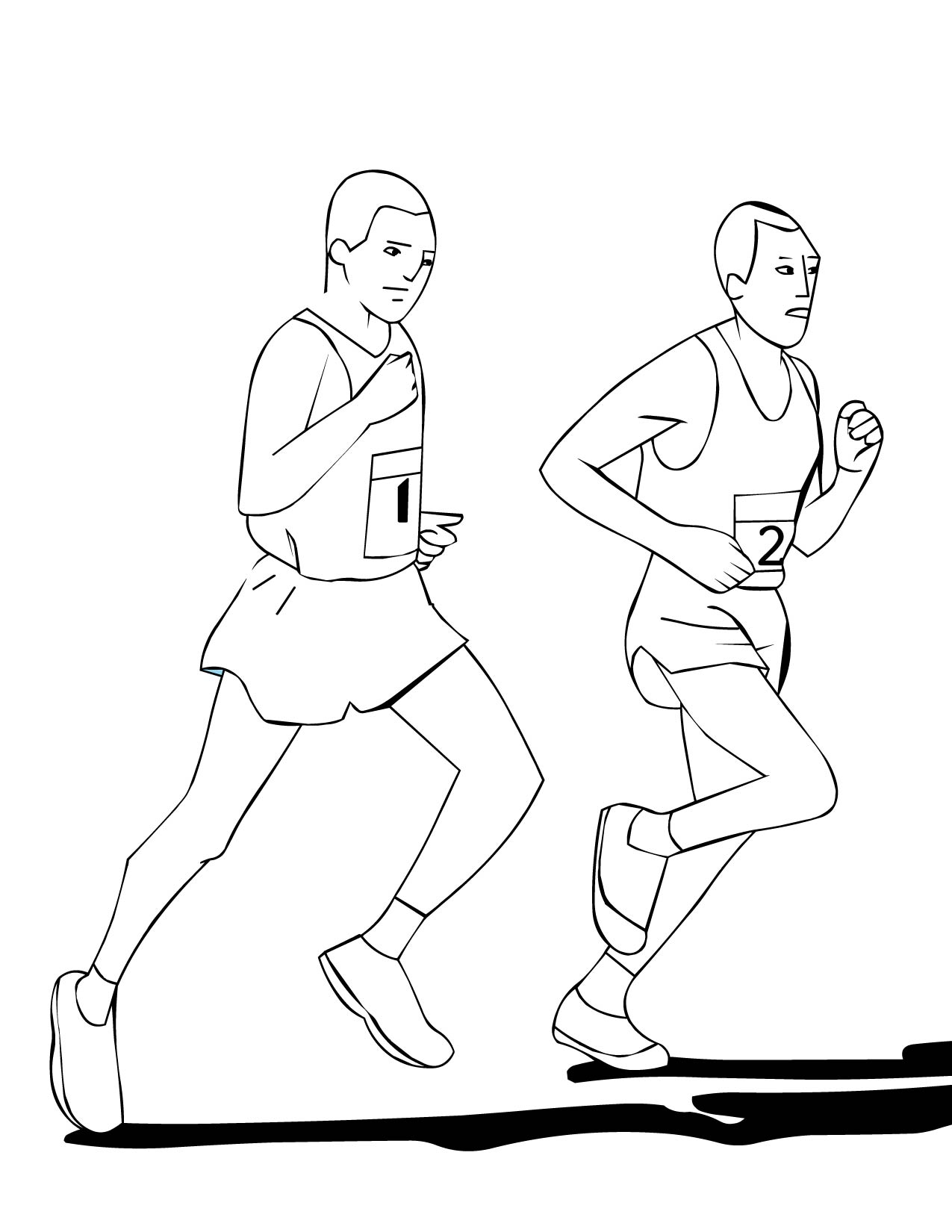 running coloring pages handipoints