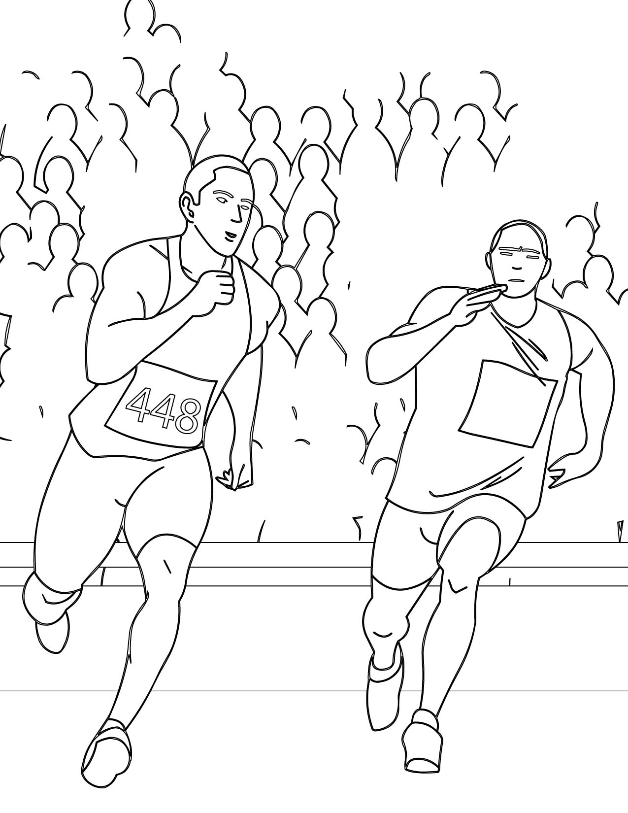 running a race coloring pages - photo#11