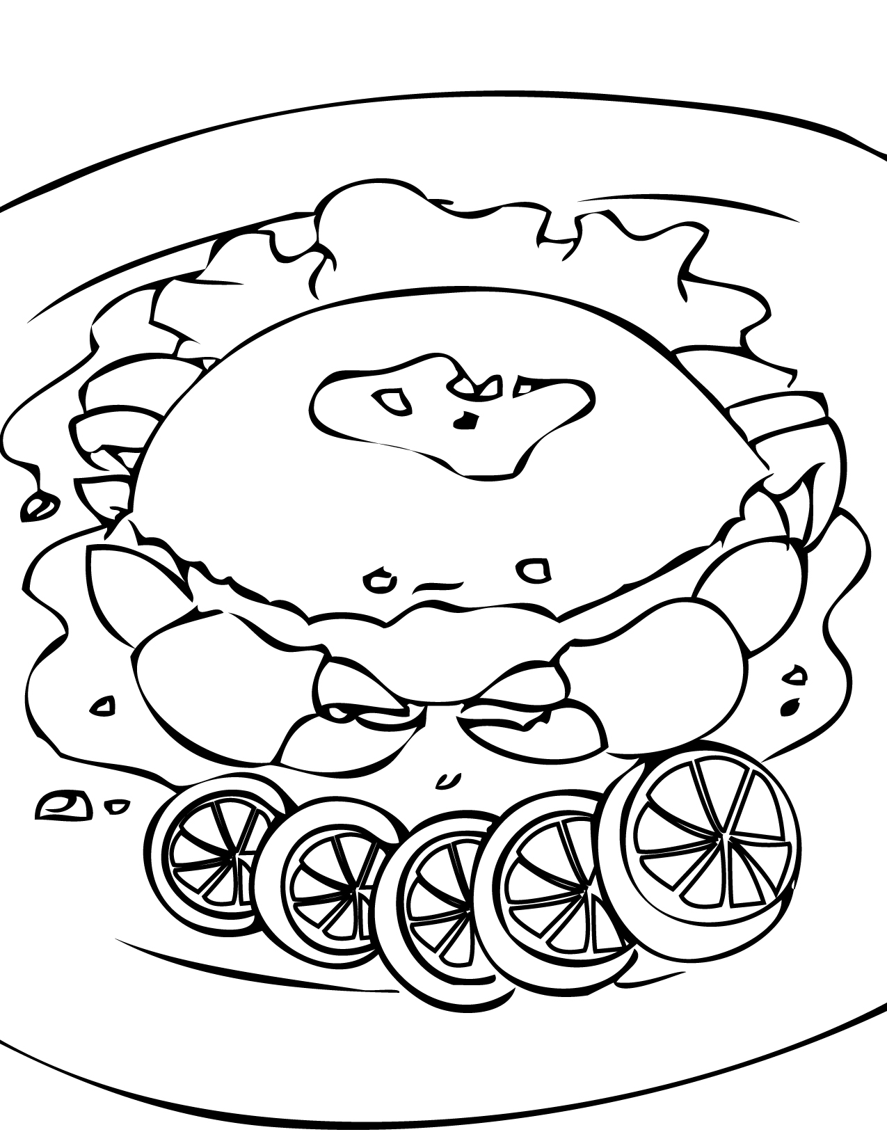 crab coloring page handipoints