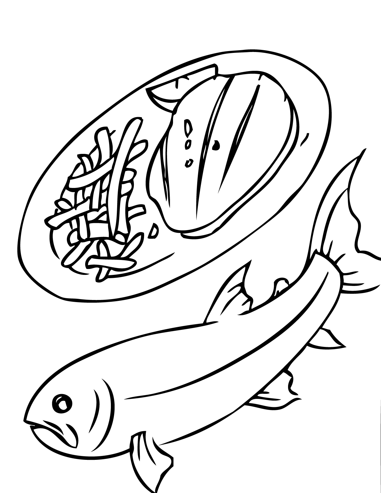 seafood coloring pages - photo#20