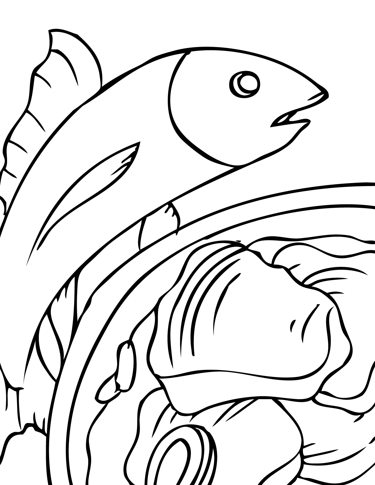 seafood coloring pages - photo#8