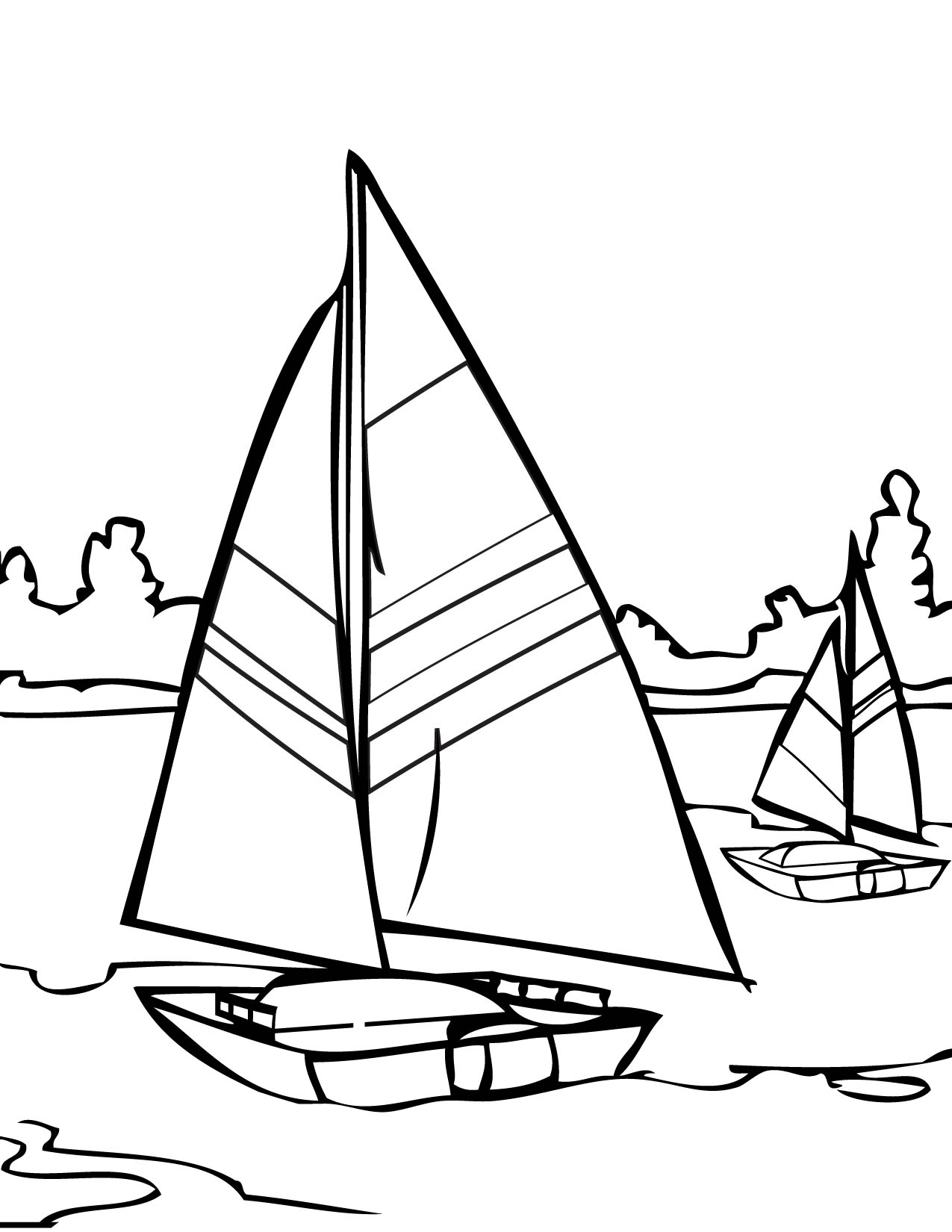 Coloring pages water - Sailing