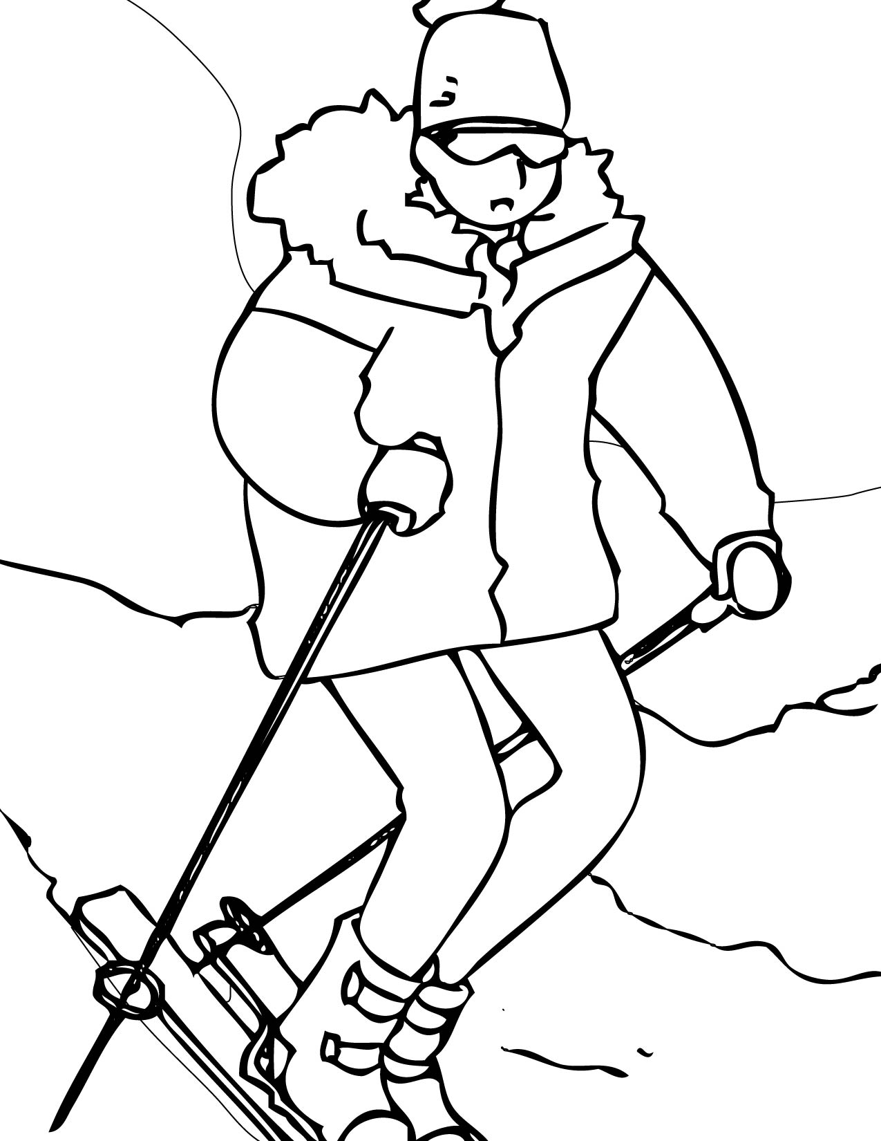 Winter Sports Coloring Pages - Handipoints