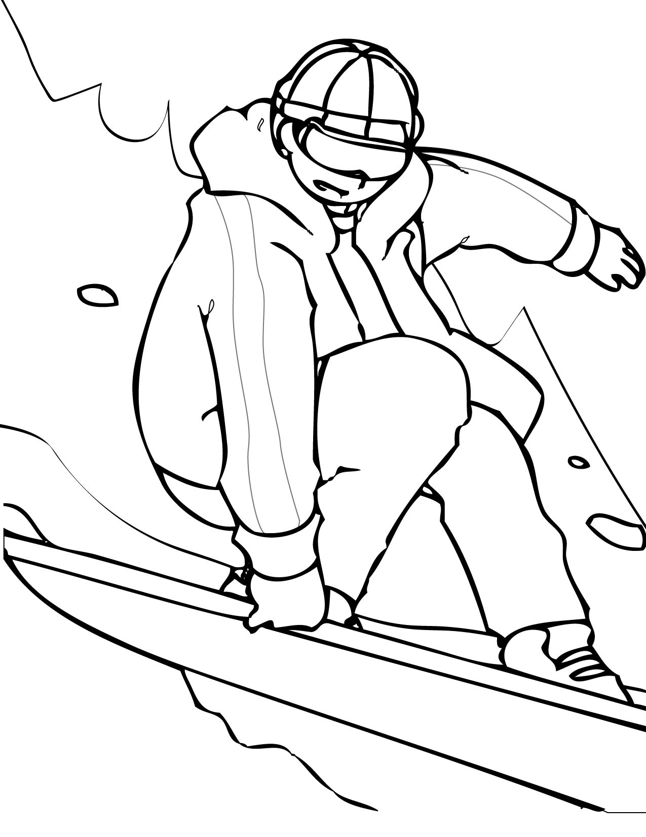 snowboarding coloring page woo jr kids activities. cartoon ...