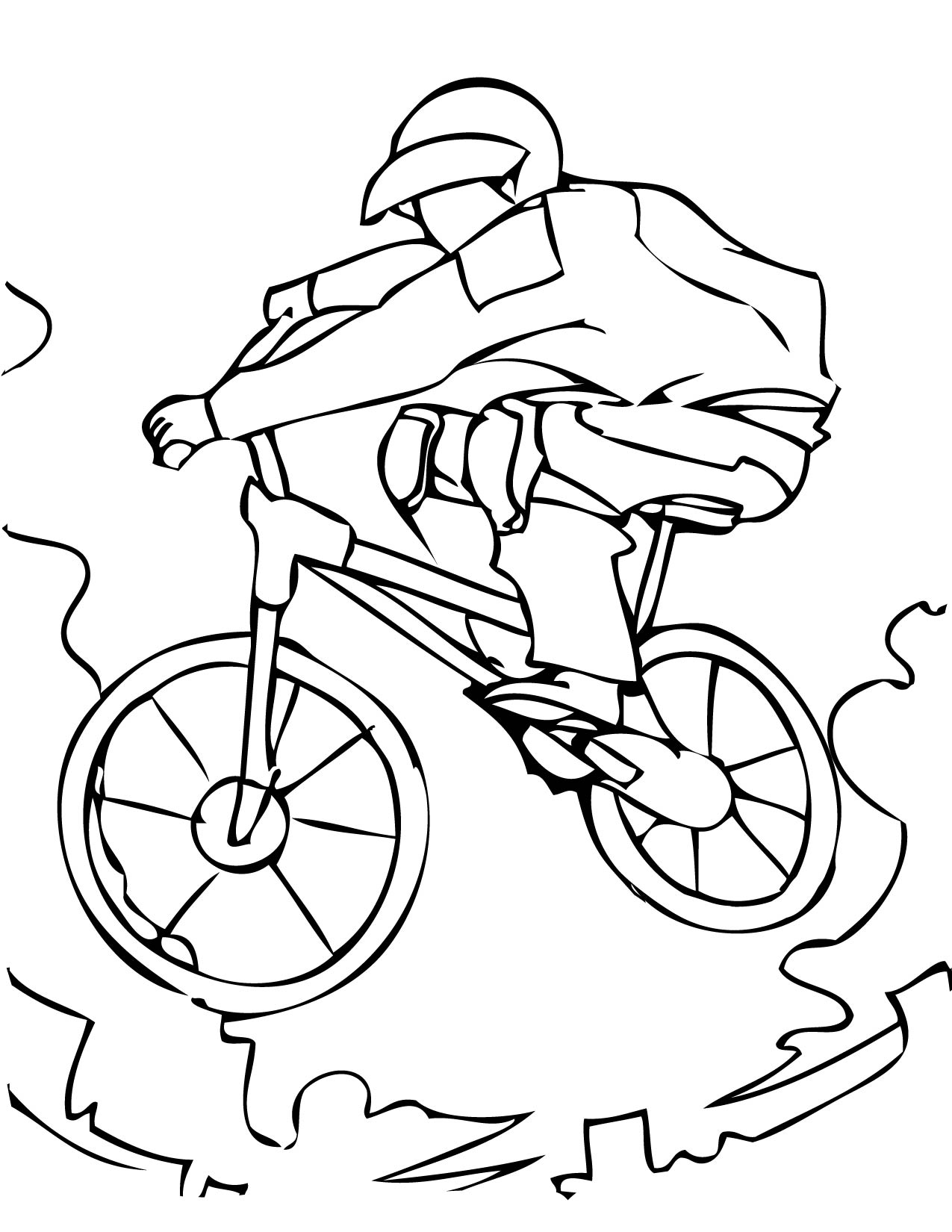 coloring pages of bmx - photo#32