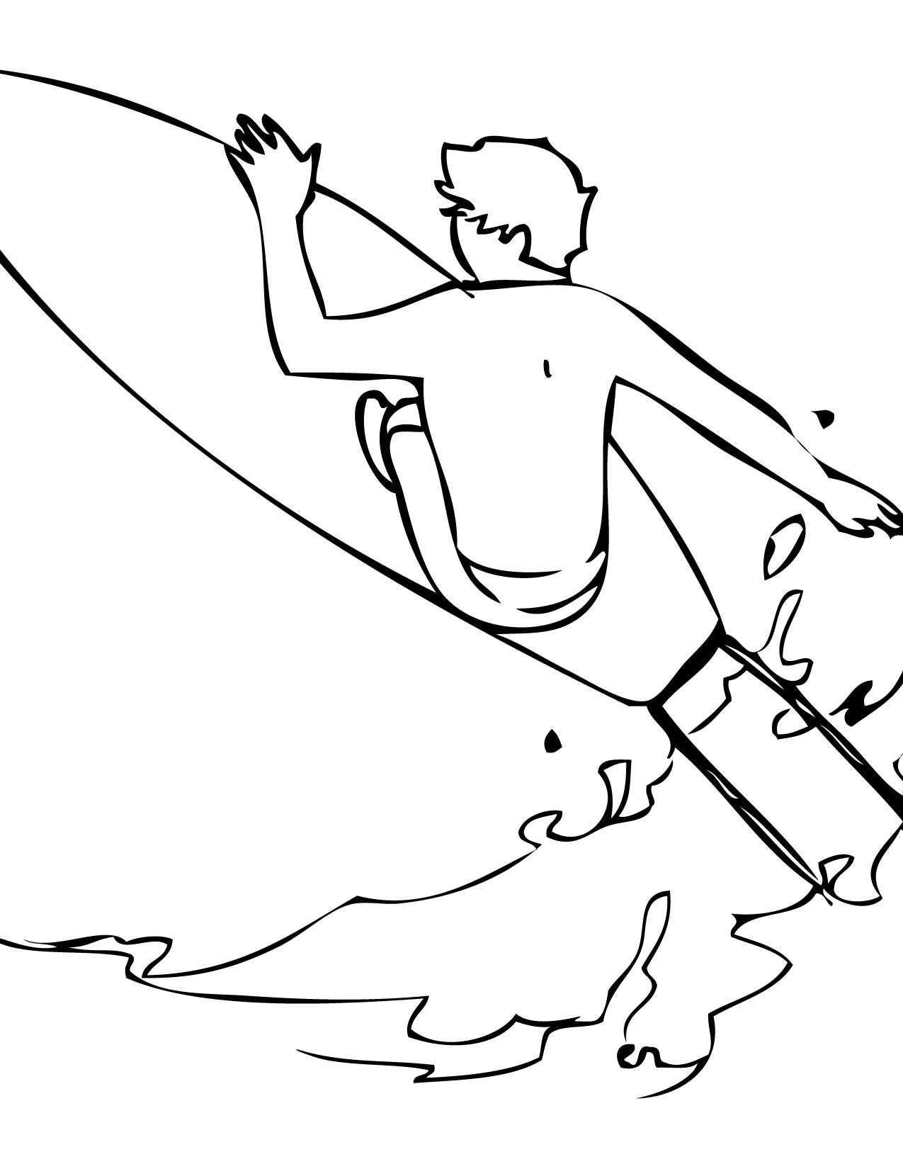 surfboard coloring pages - surfing coloring pages the image kid