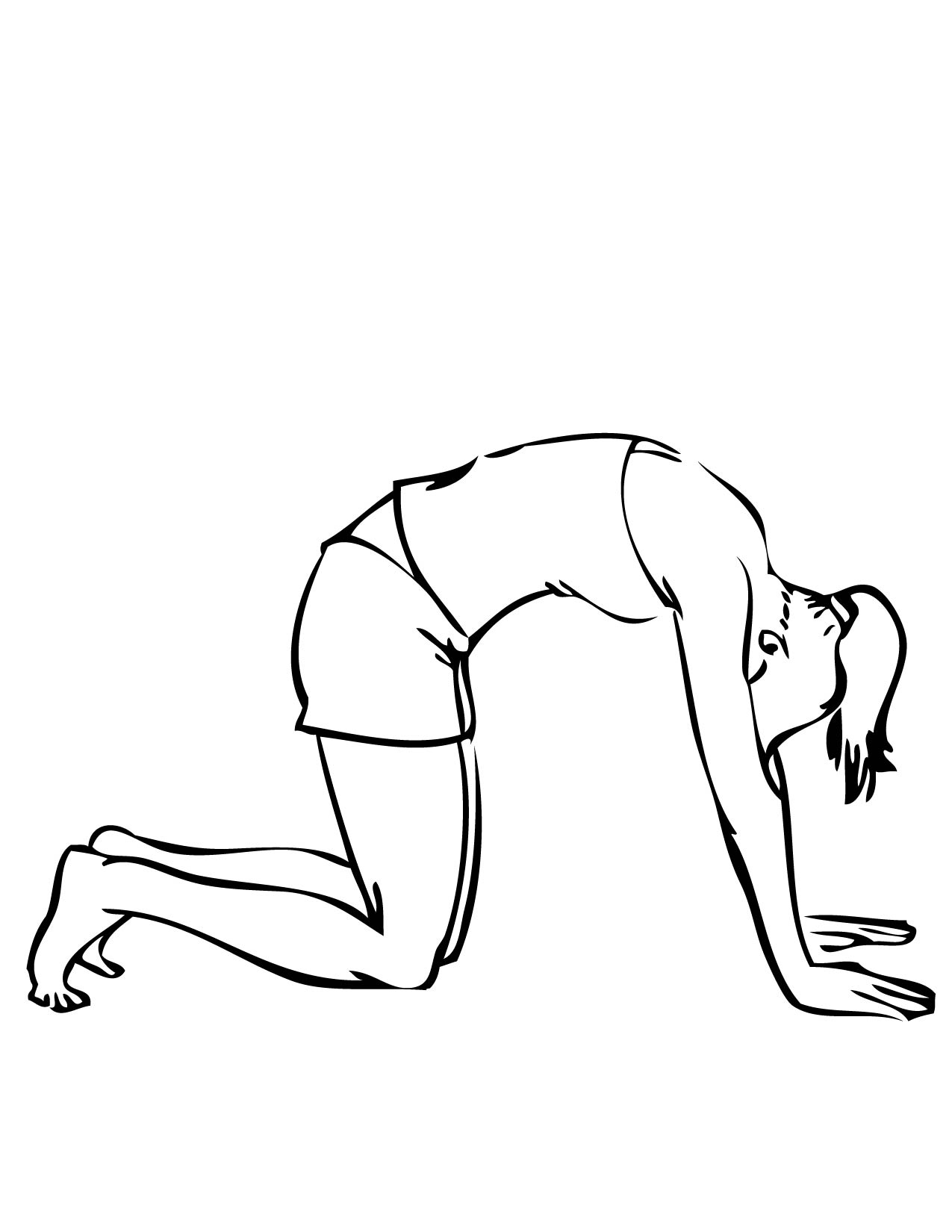 Yoga Poses Abc Coloring Sheets