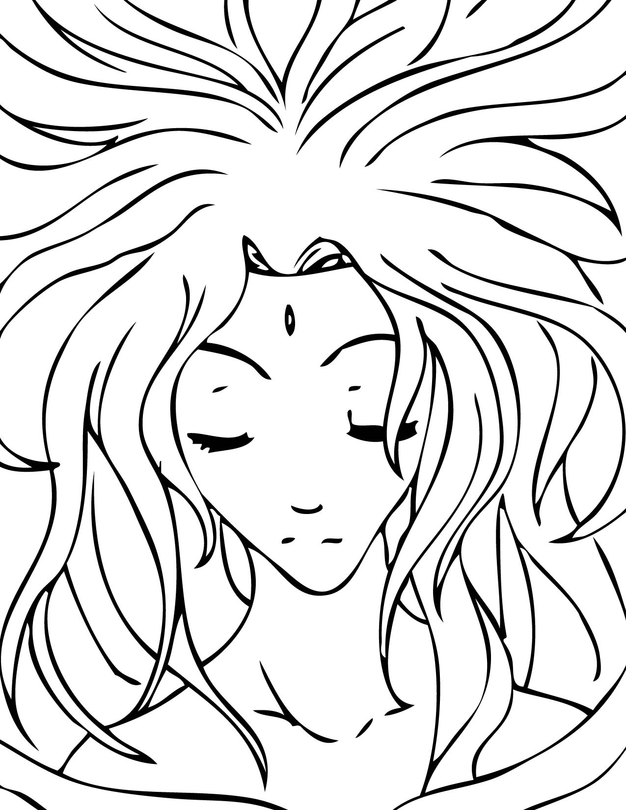 Coloring pages greek mythology - Aphrodite
