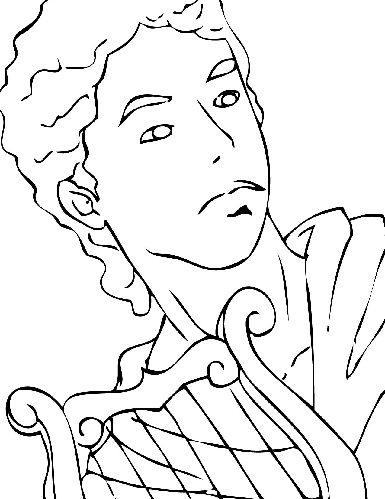 Apollo Coloring Page Handipoints