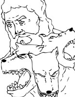 hades - Ancient Greek Gods Coloring Pages