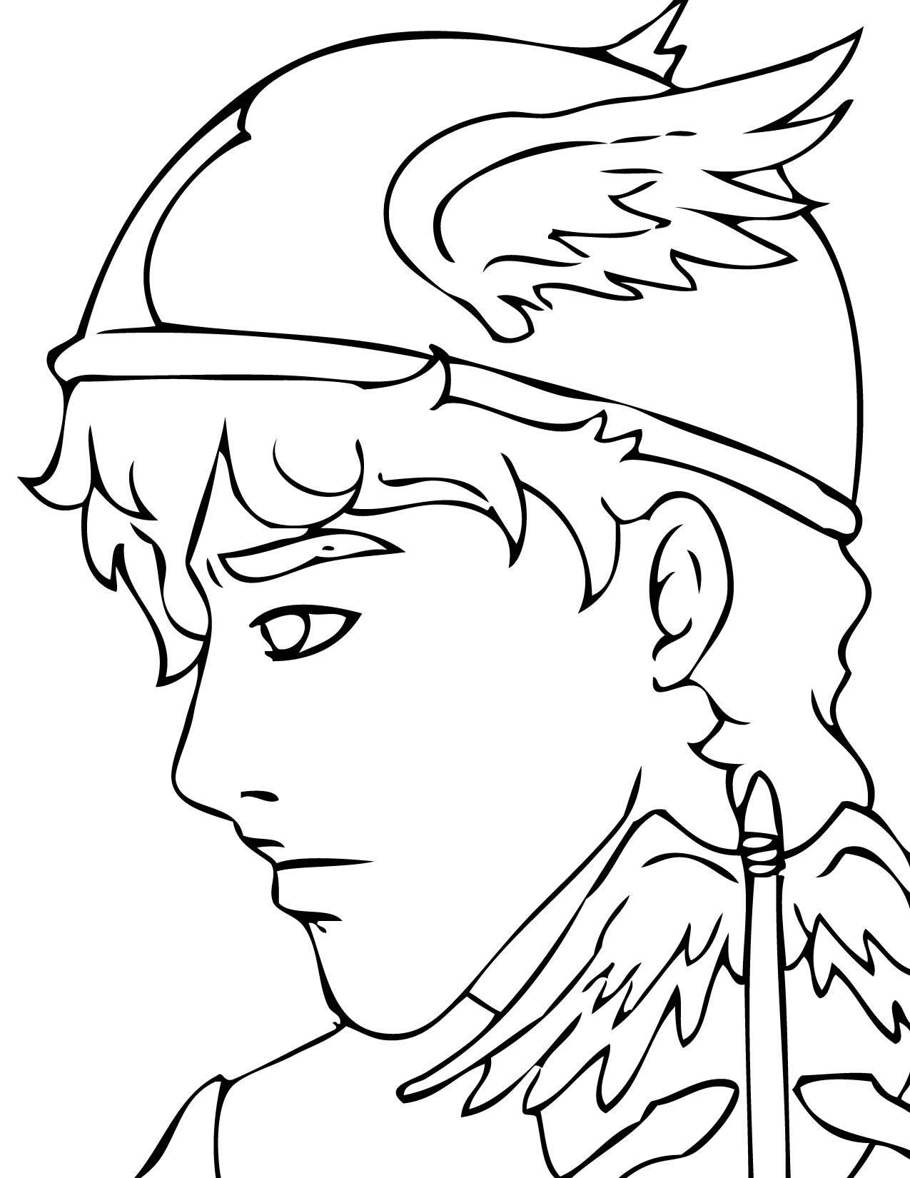 ancient greek gods coloring pages coloring pages hermes - Ancient Greek Gods Coloring Pages