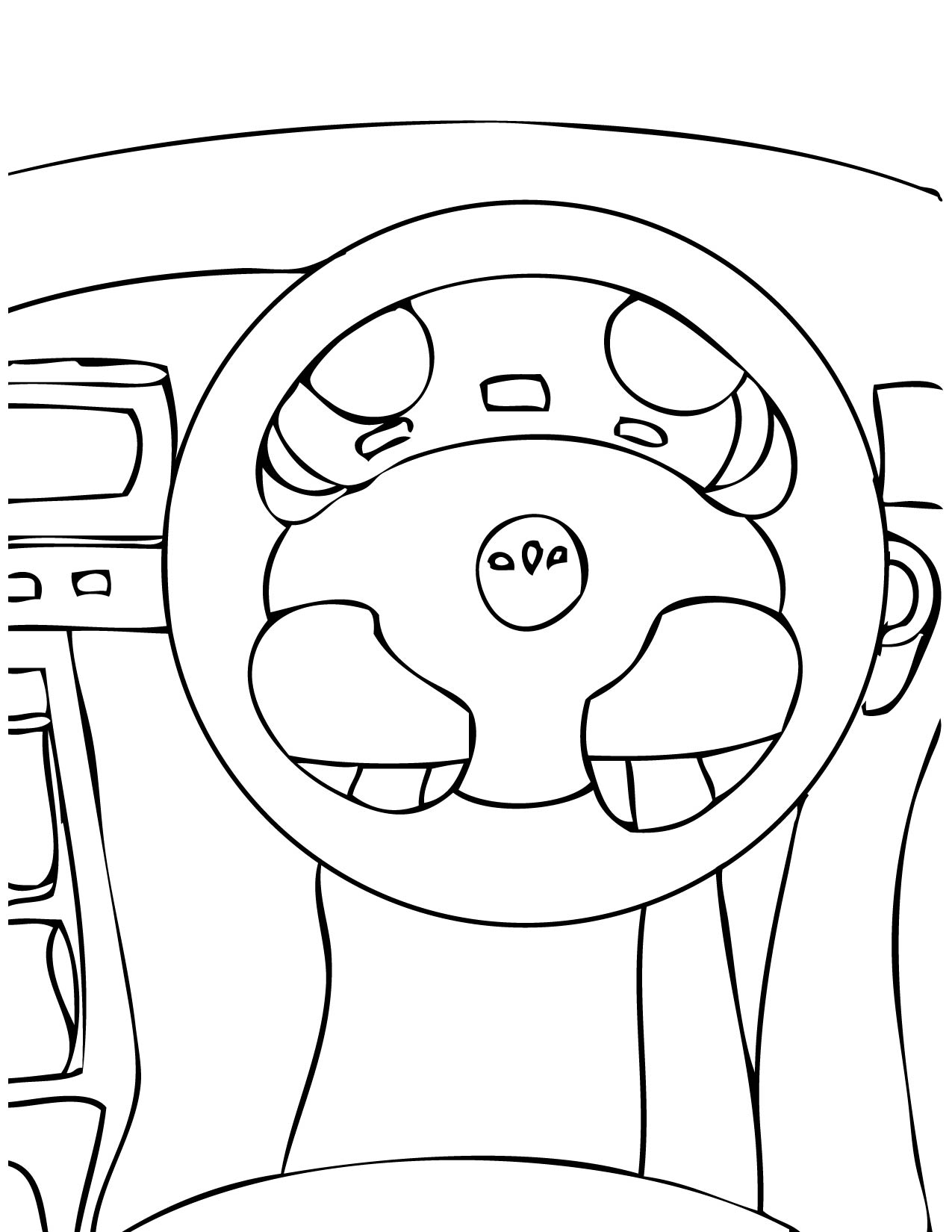 steering wheel coloring page handipoints